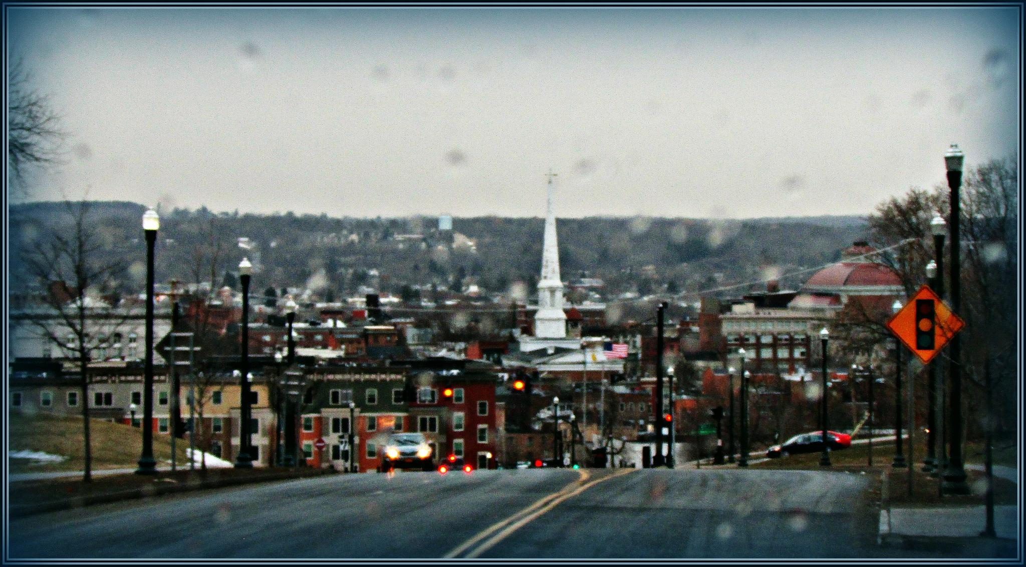 Photo in Cityscape #cityscape #troy ny #upstate ny #rain