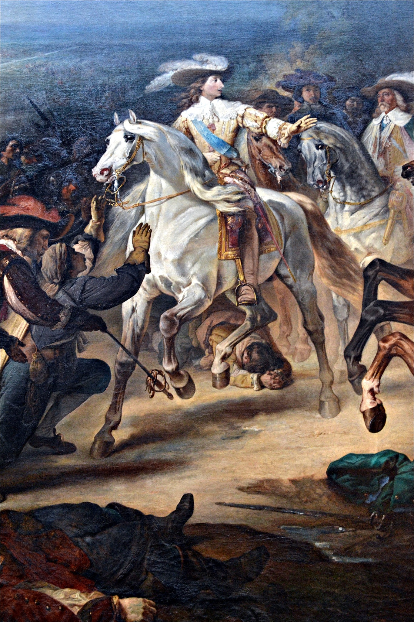 Detail of a painting on display at the Palace of Versailles by Fred Matos