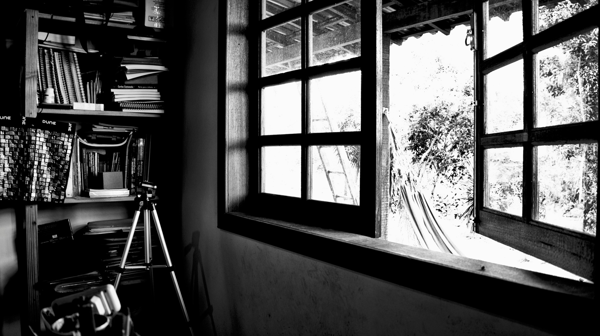 a corner of the house, the window and the world outside by Fred Matos