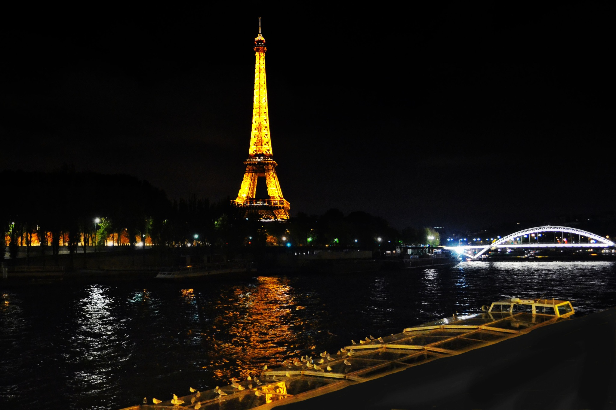 The Eiffel Tower by night by Fred Matos