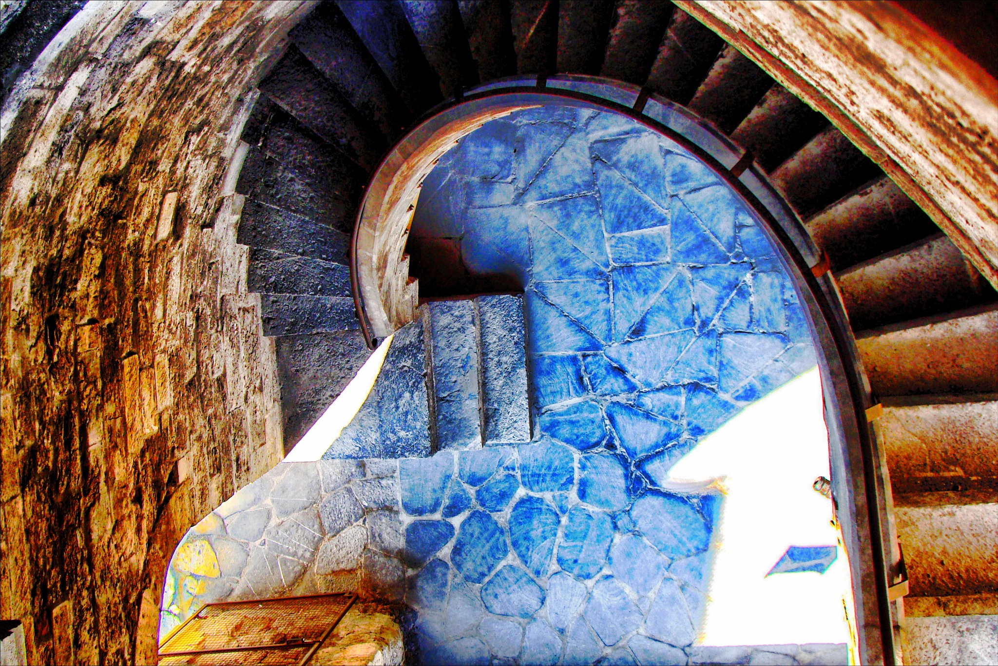 Staircase of the Porta Soprana tower by Fred Matos