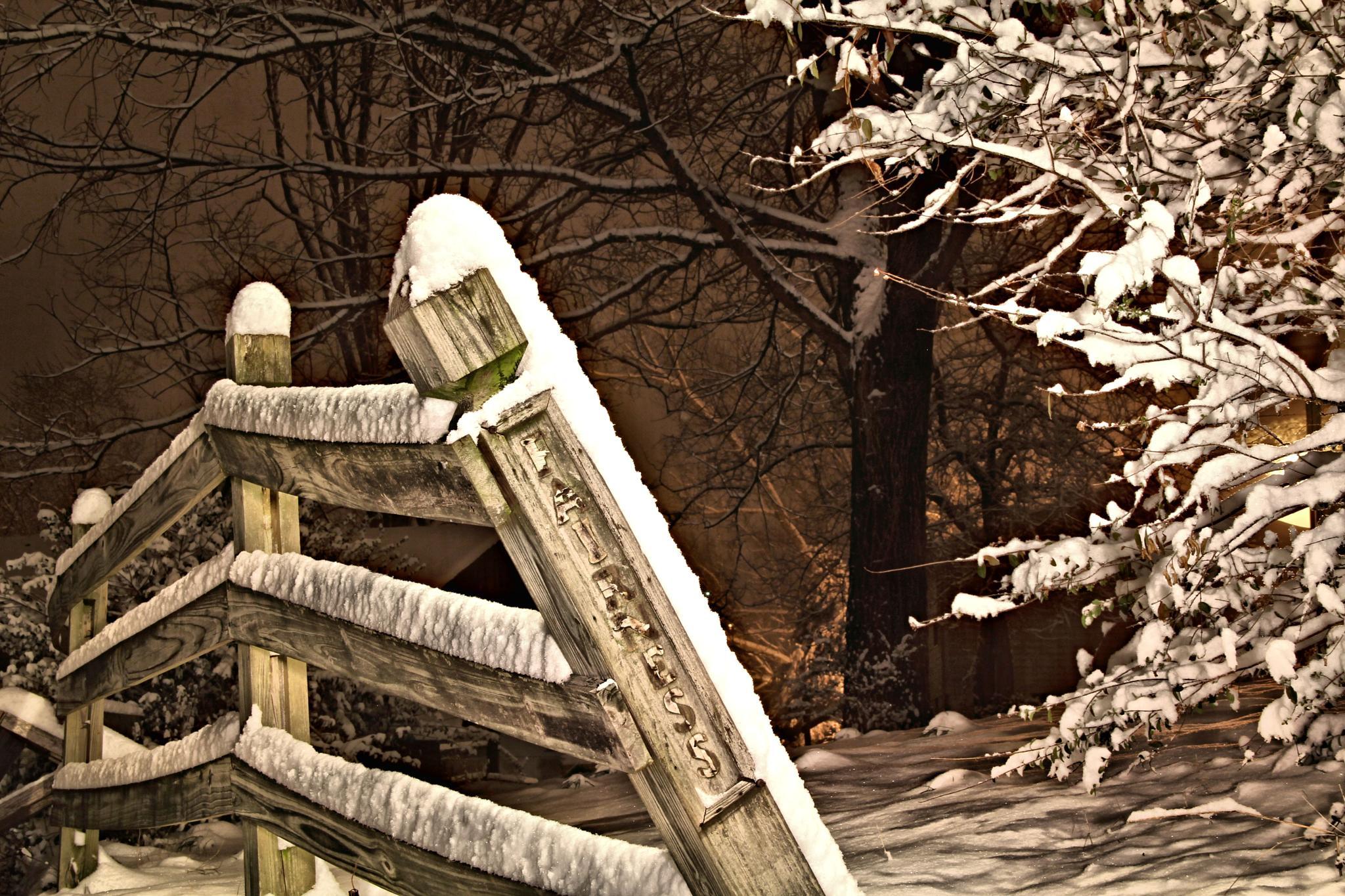 Snowy Fence by daryl.chamlee.9