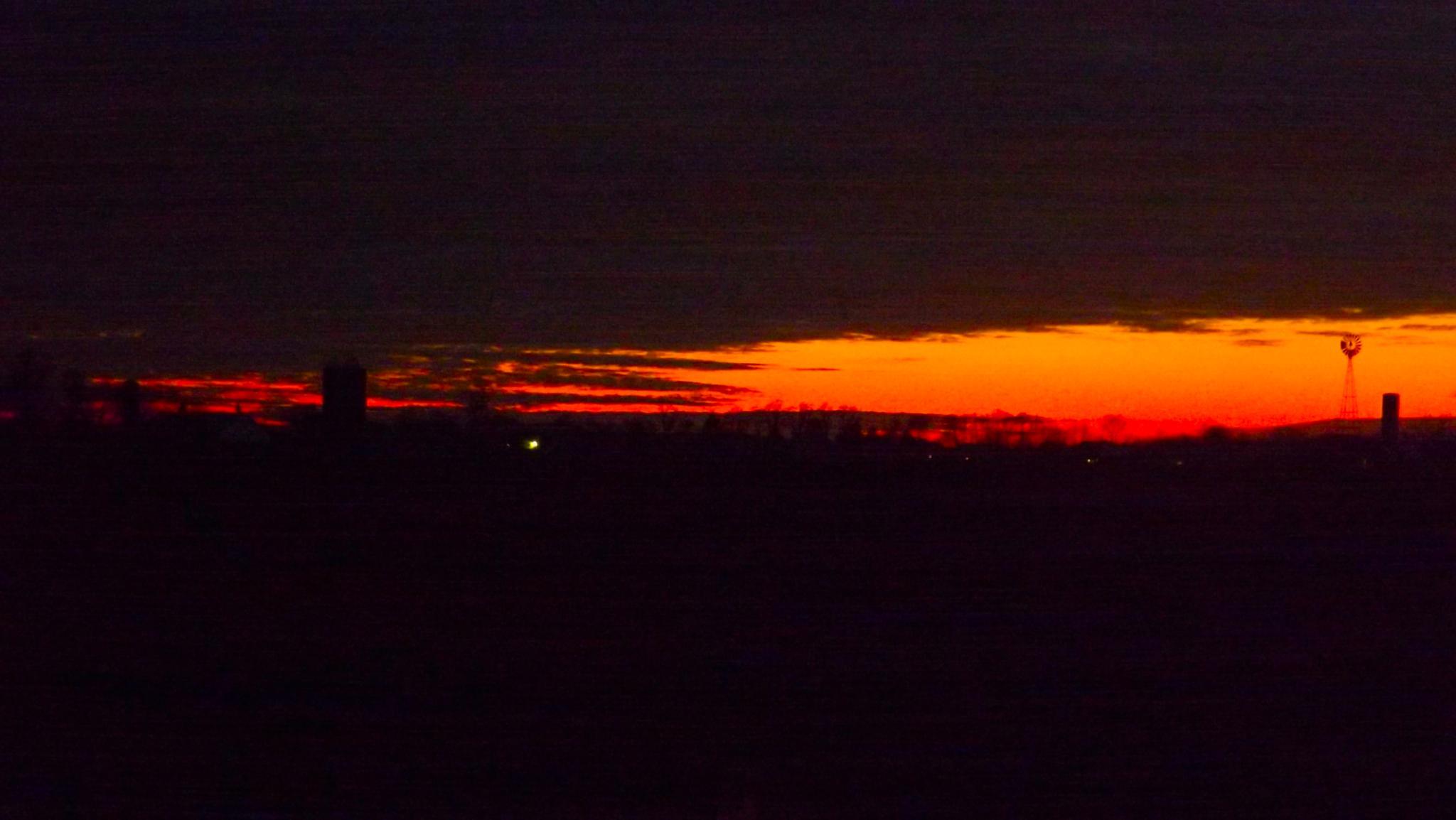 Sunset on the Farm by ccbarron1