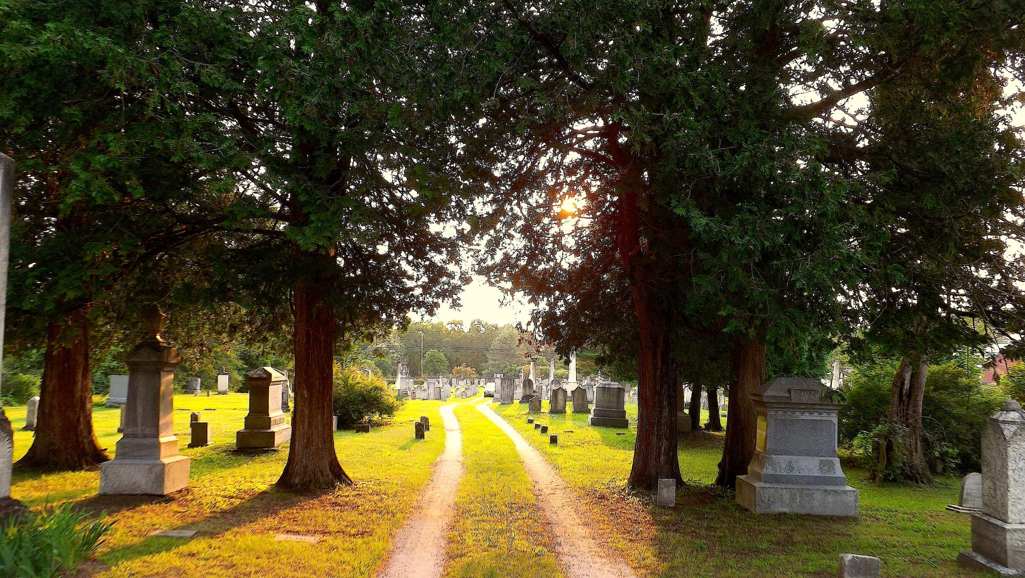 Cemetery at Sunset by ccbarron1