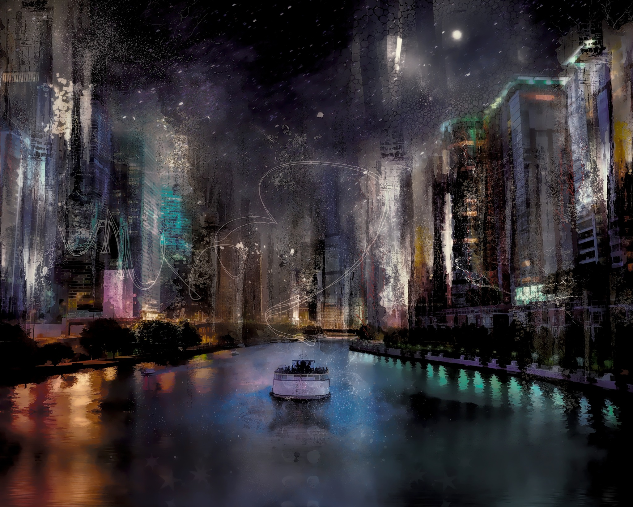 Night Cruise - city series by Cherbeni