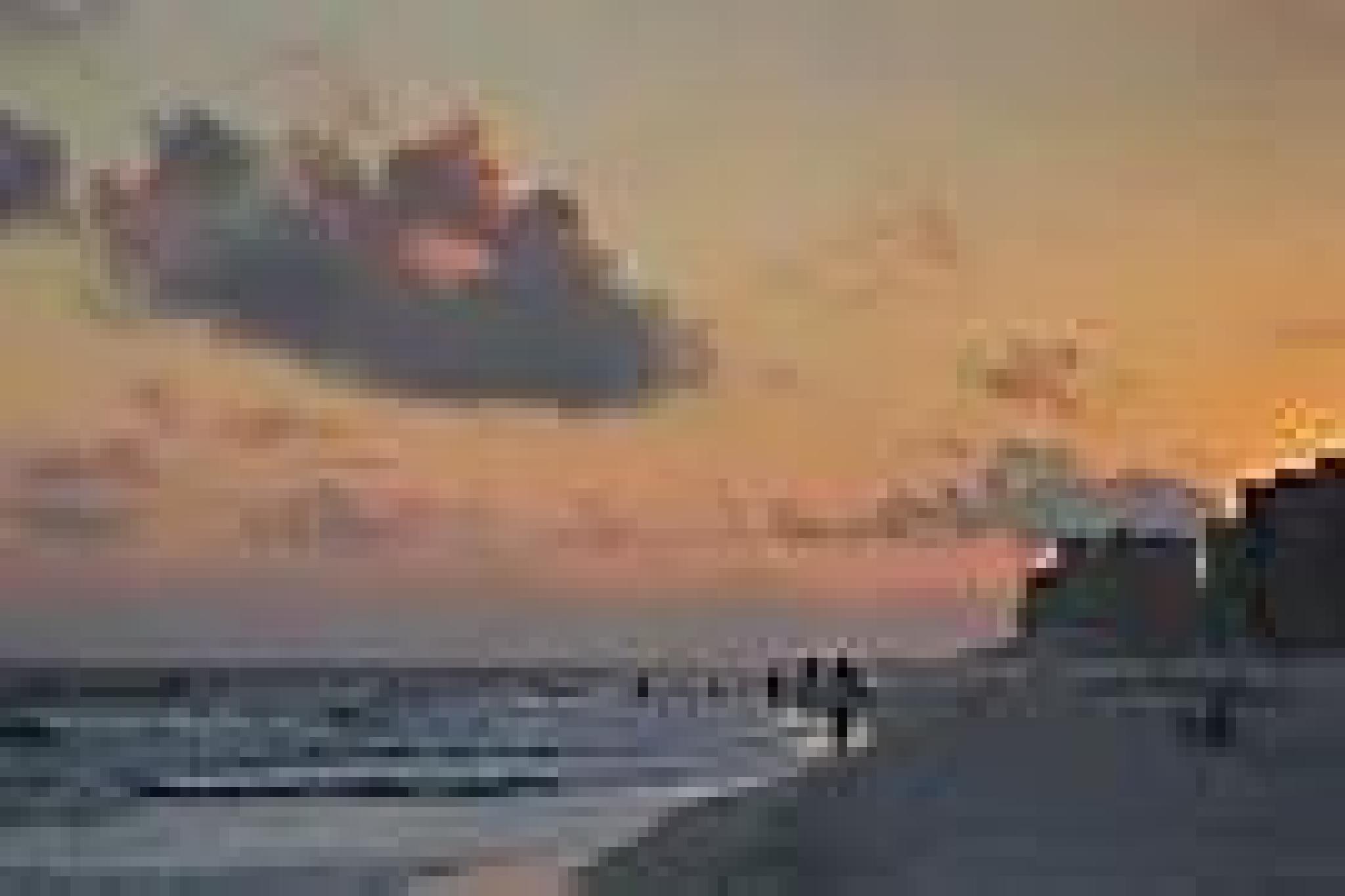 Beach sunset by Candy Garska