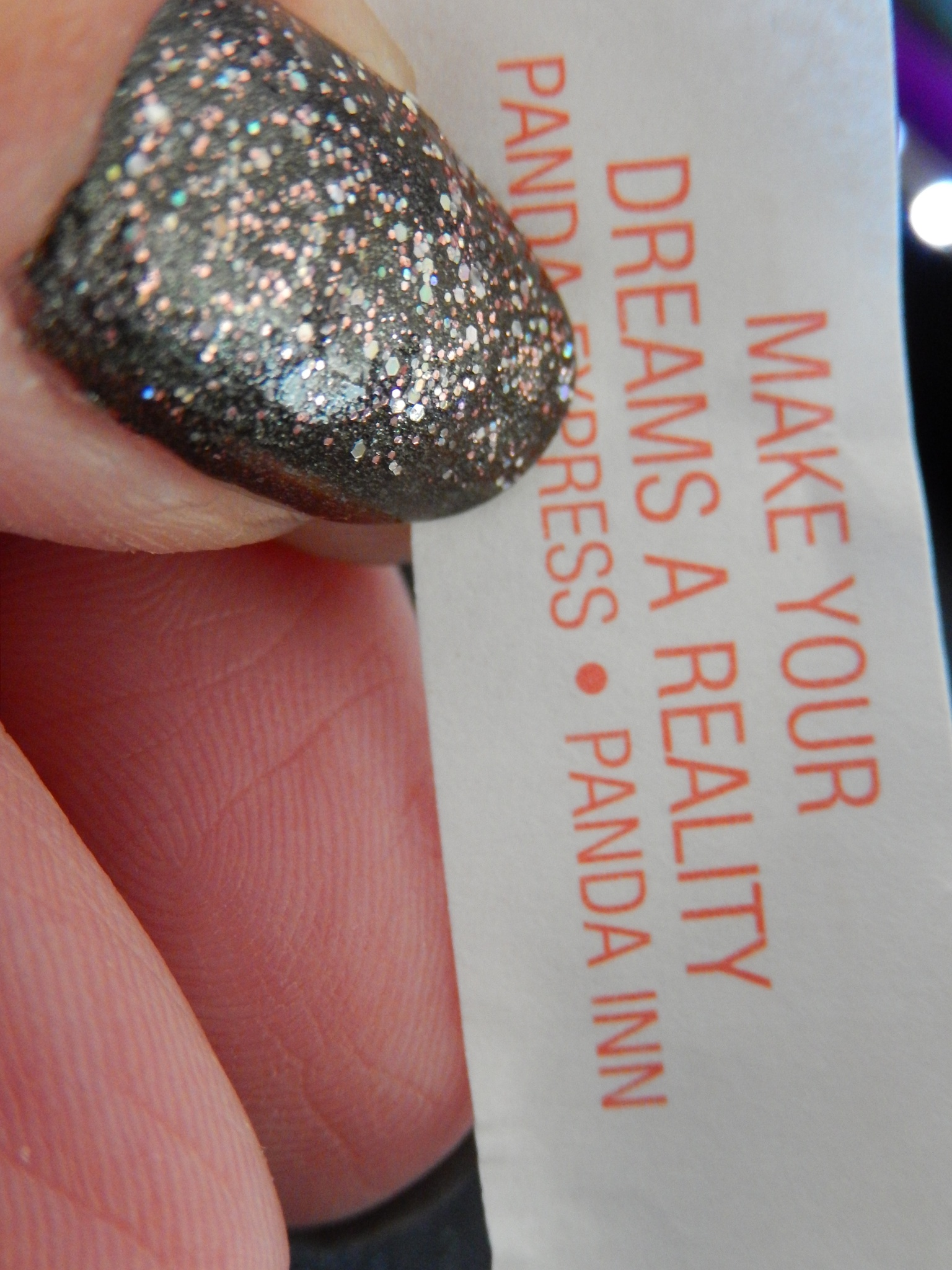 My fortune cookie today! by Dawn Kanne