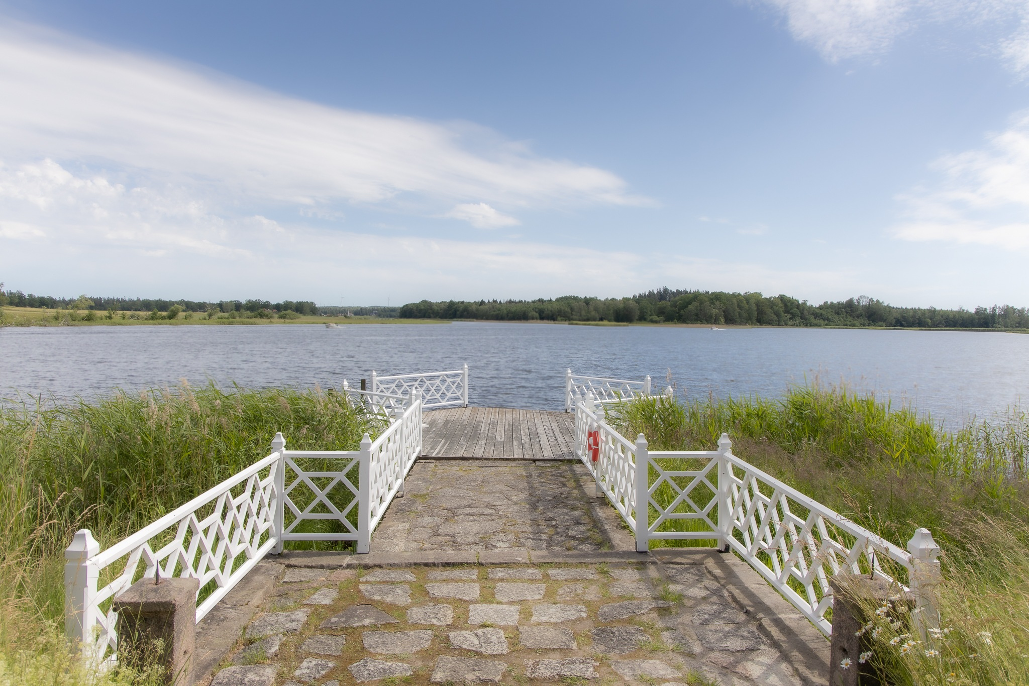 Summer at the landing stage by Robert