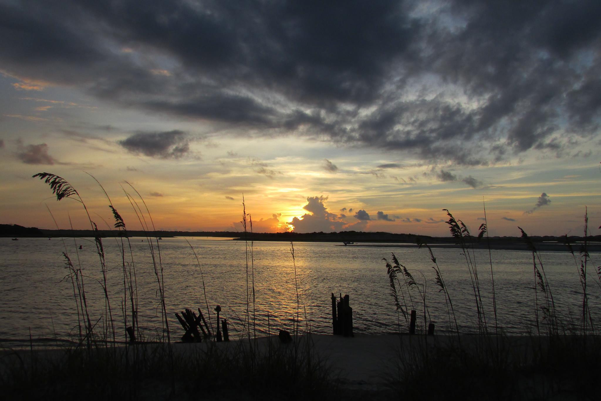 Holden Beach, North Carolina at Sunrise by Lisa Marshall Moore