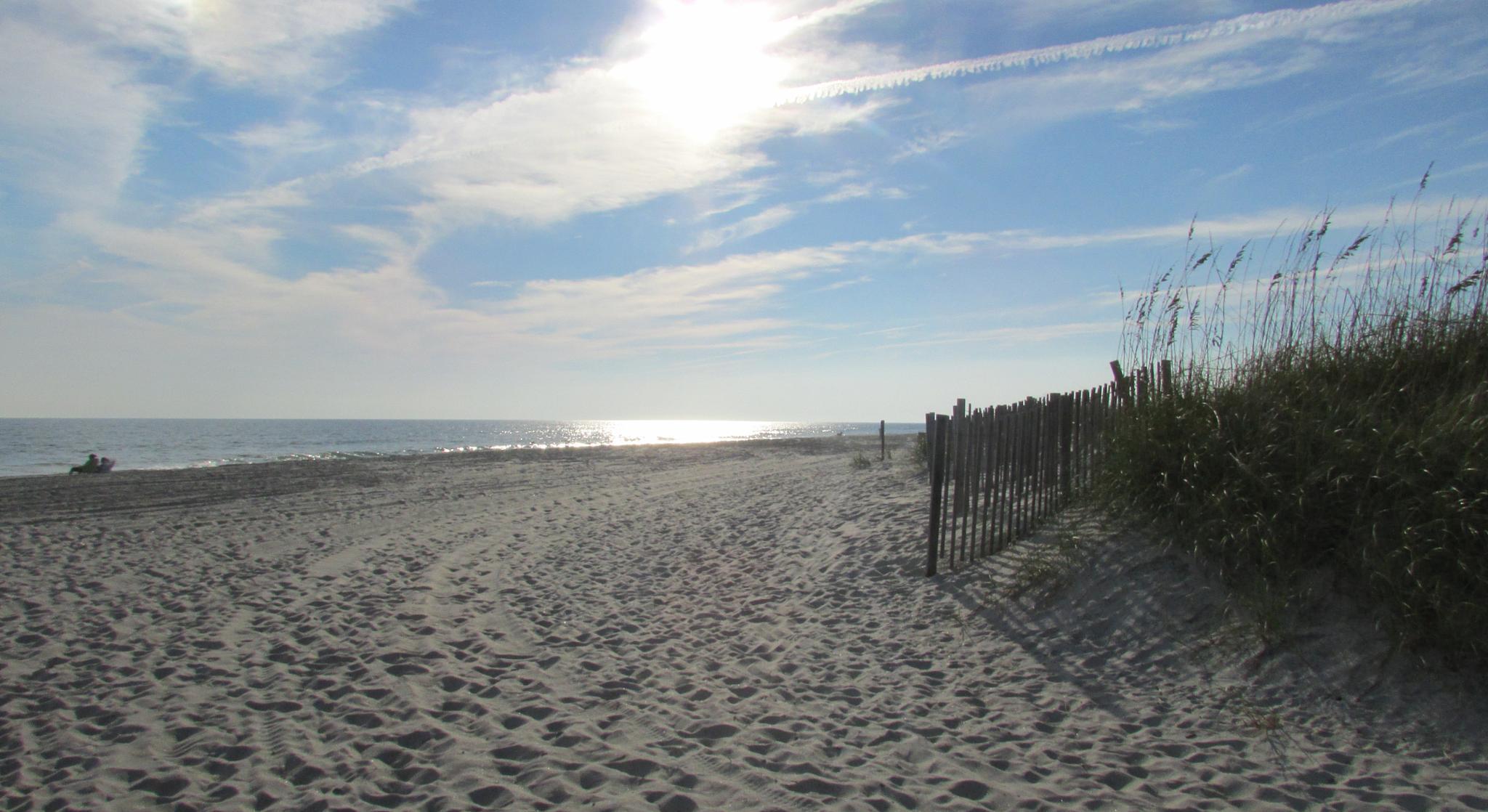 Beautiful Autumn Day on Atlantic Beach, North Carolina by Lisa Marshall Moore