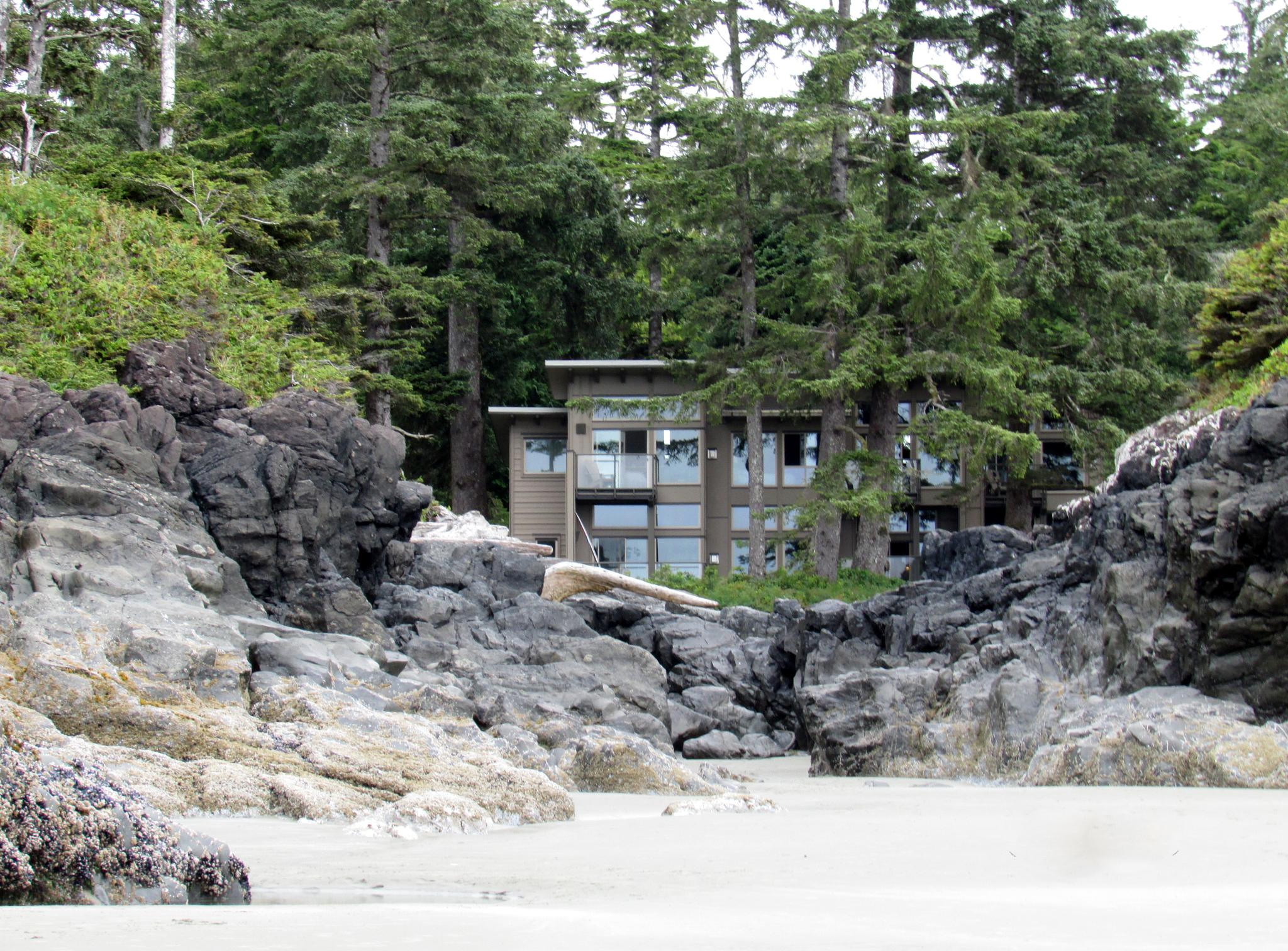Beach House at Tofino Beach, Vancouver Island by Lisa Marshall Moore