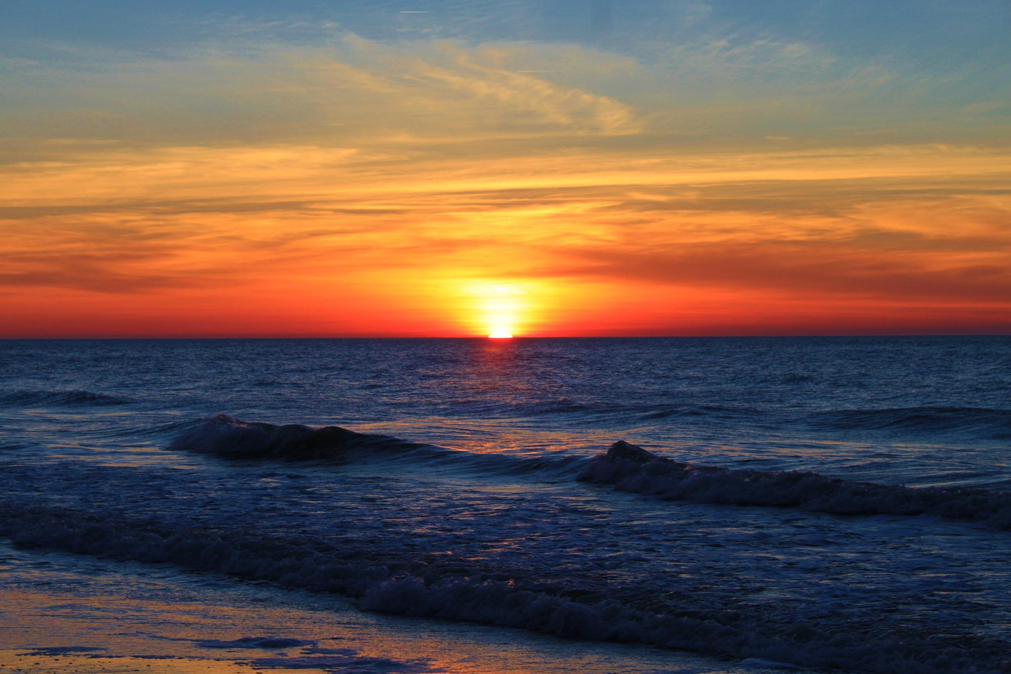 Photo in Sea and Sand #sunrise #myrtle #beach #colorful