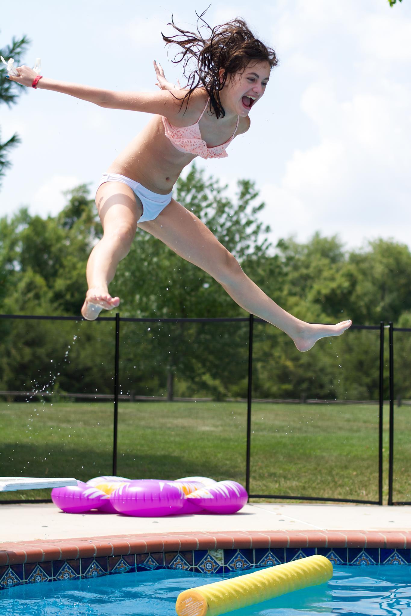 Diving Board -- Olivia by GeoffS
