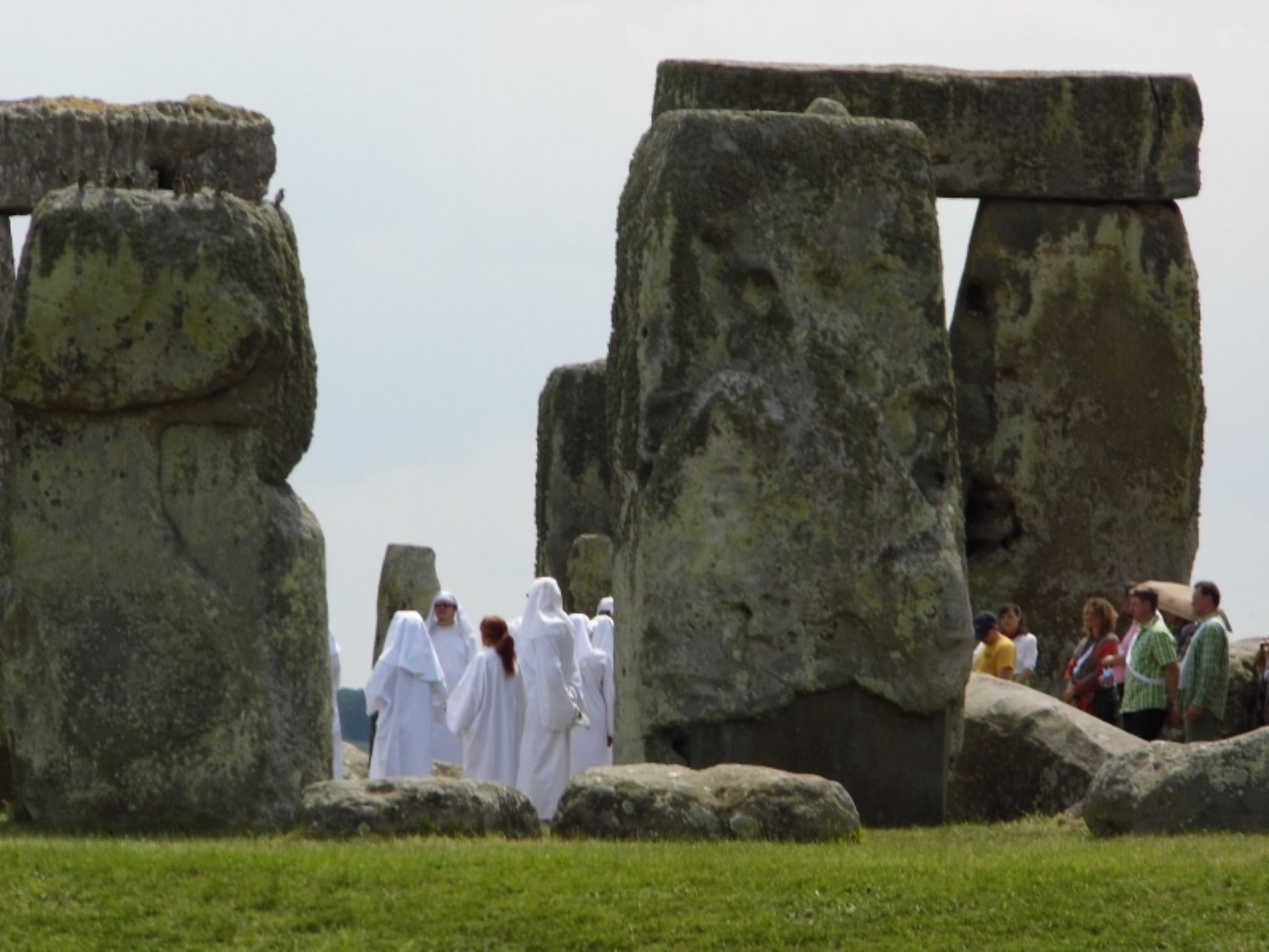 Druids are looking for a holiness at Stonehenge, England (UK) by ambertale60