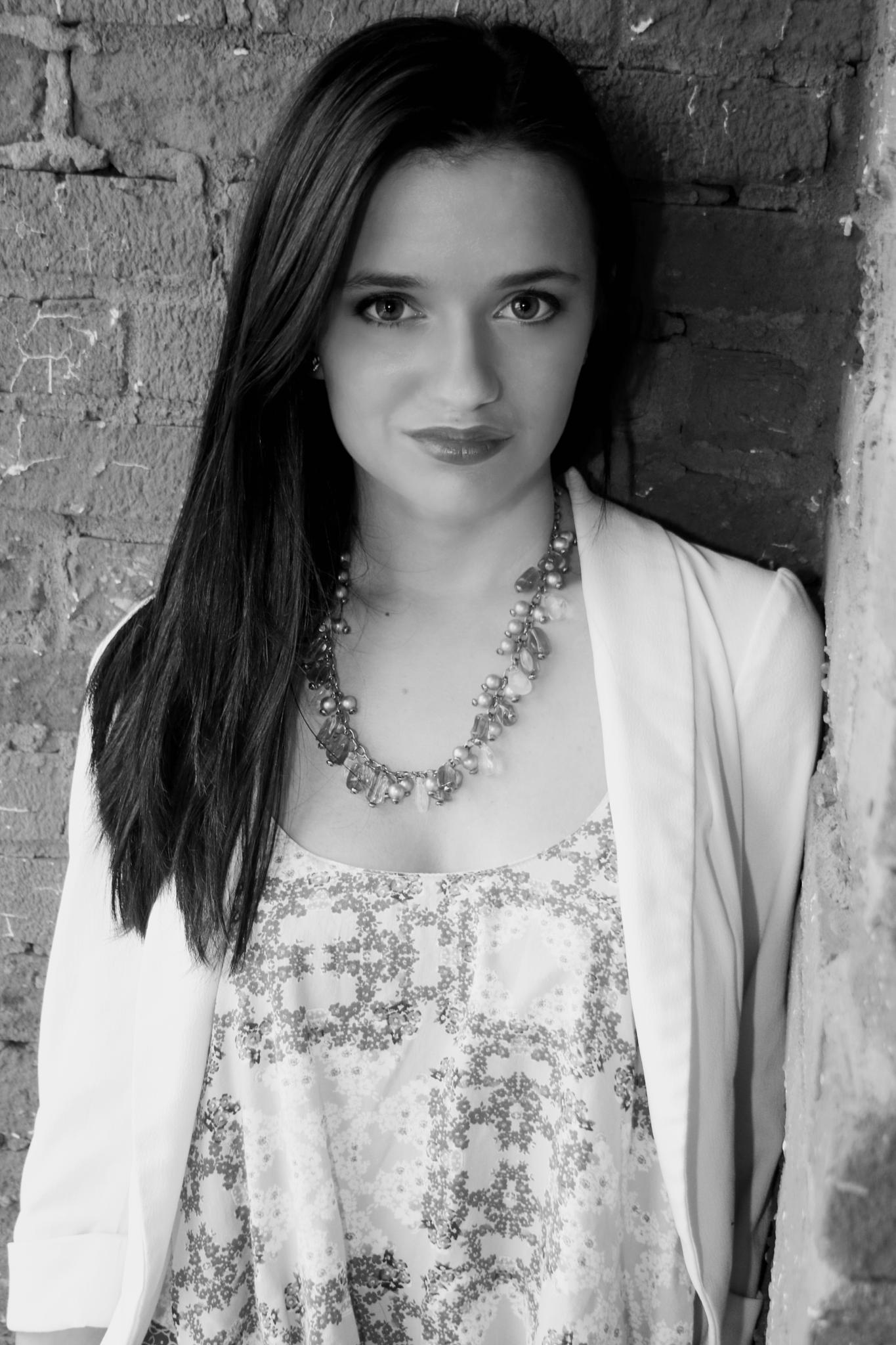 Photo in Black and White #black & white #b&w #beautiful #woman #pretty #portrait #fashion #brunette #styledbysteph96 #ootd