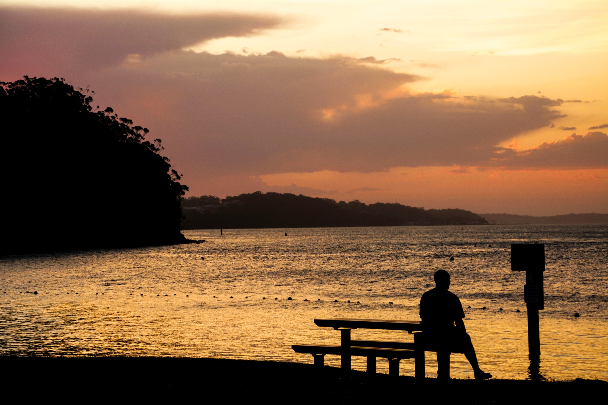 Admiring the Port Stephens sunset by colin.petrie.5