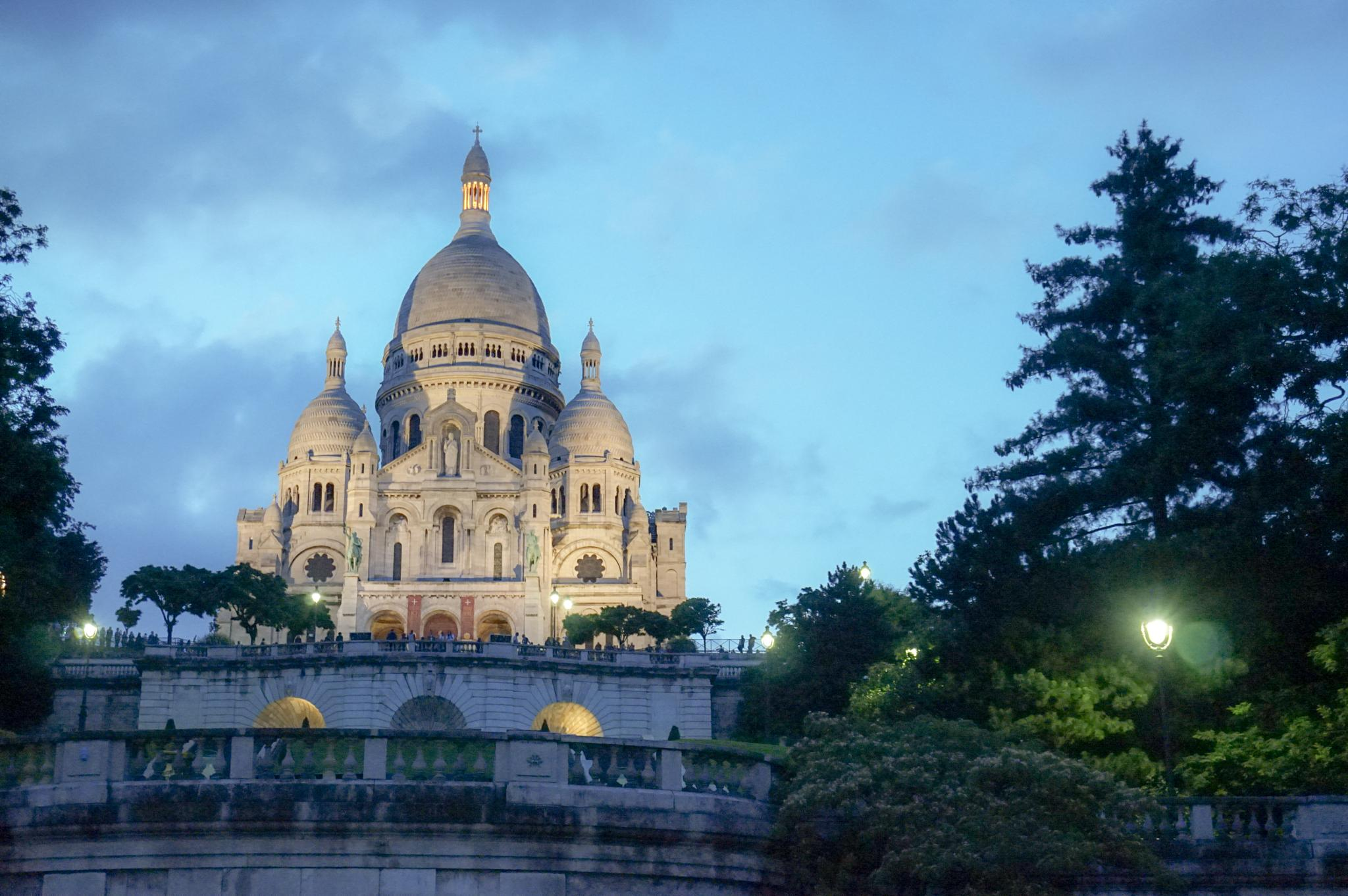 Sacré-Cœur by night by Tobias Erdsjö