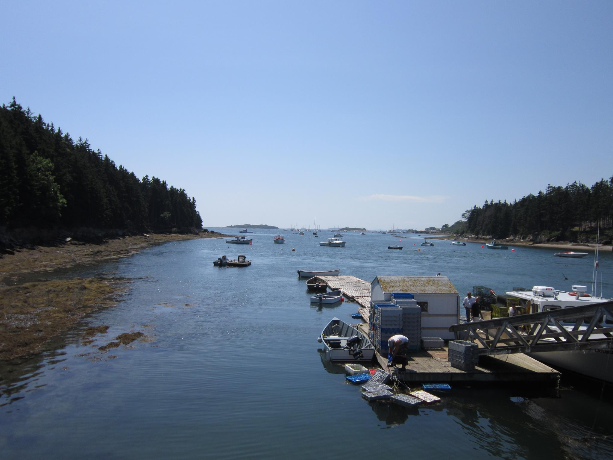 Coast of Maine fishing docks. by skycat911