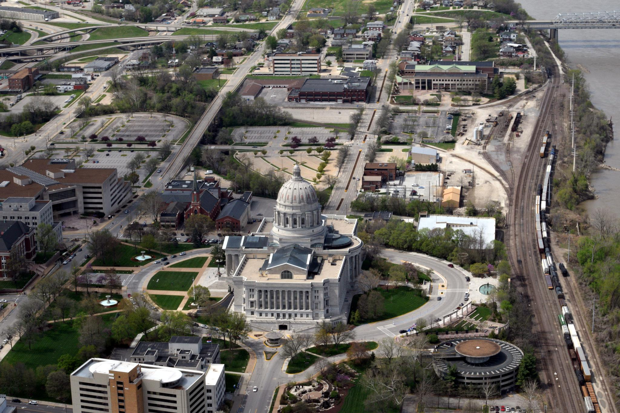 Ariel view of Jefferson City, MO by dlucia1