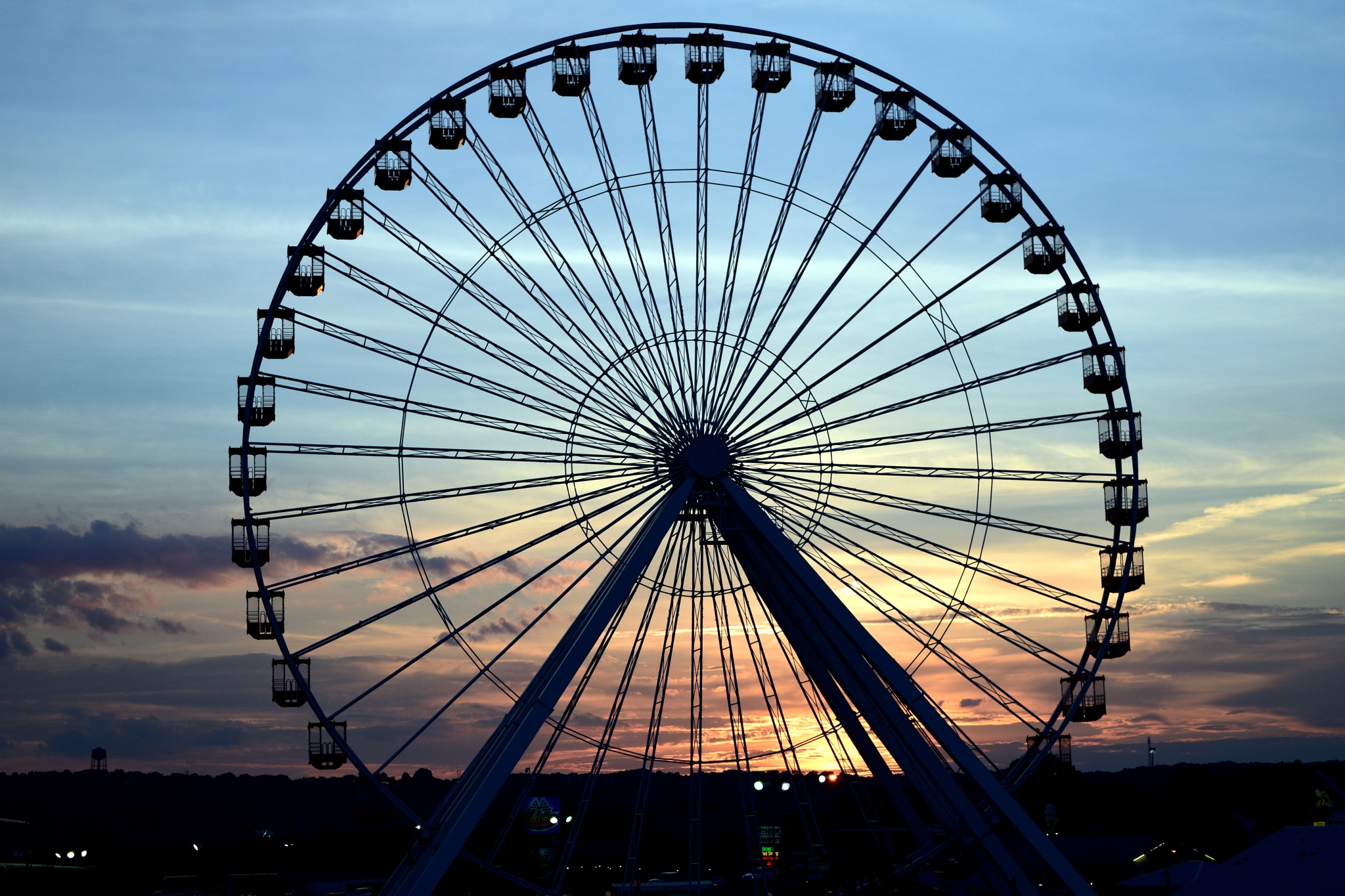 Branson Wheel at Sunset by dlucia1