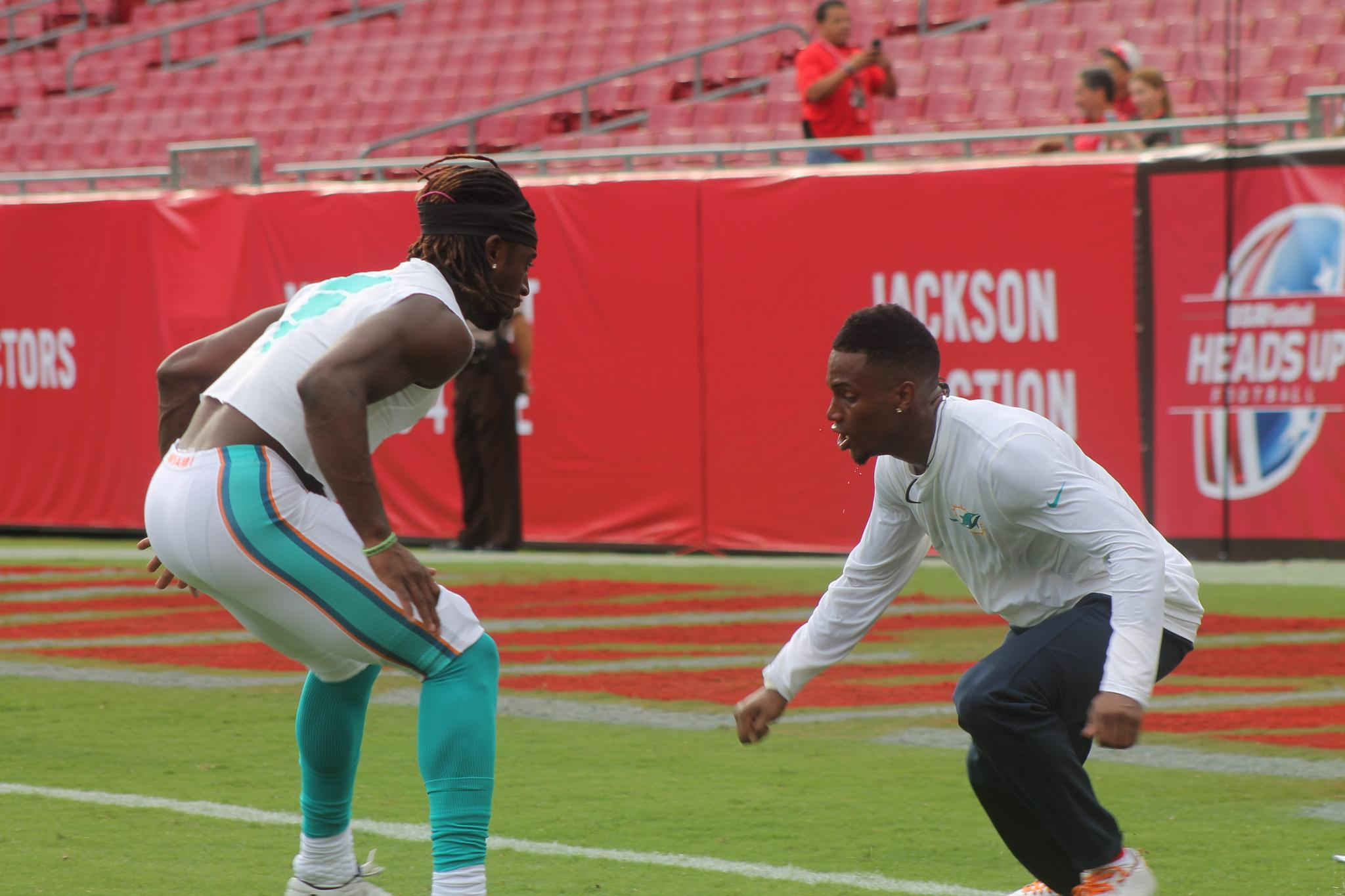Miami Dolphins football practice by Kathy
