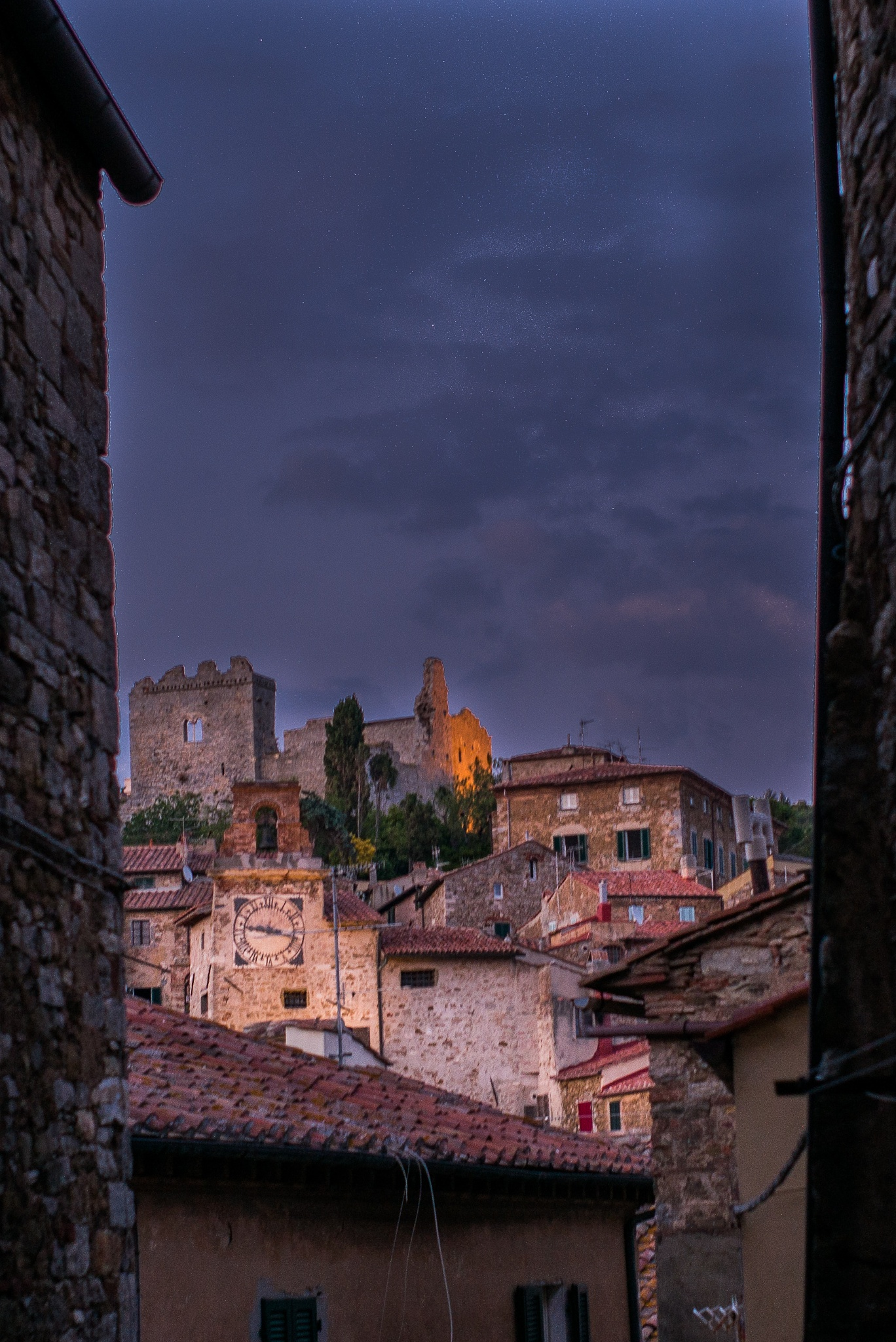 The village  at dusk by giorgiomorrone