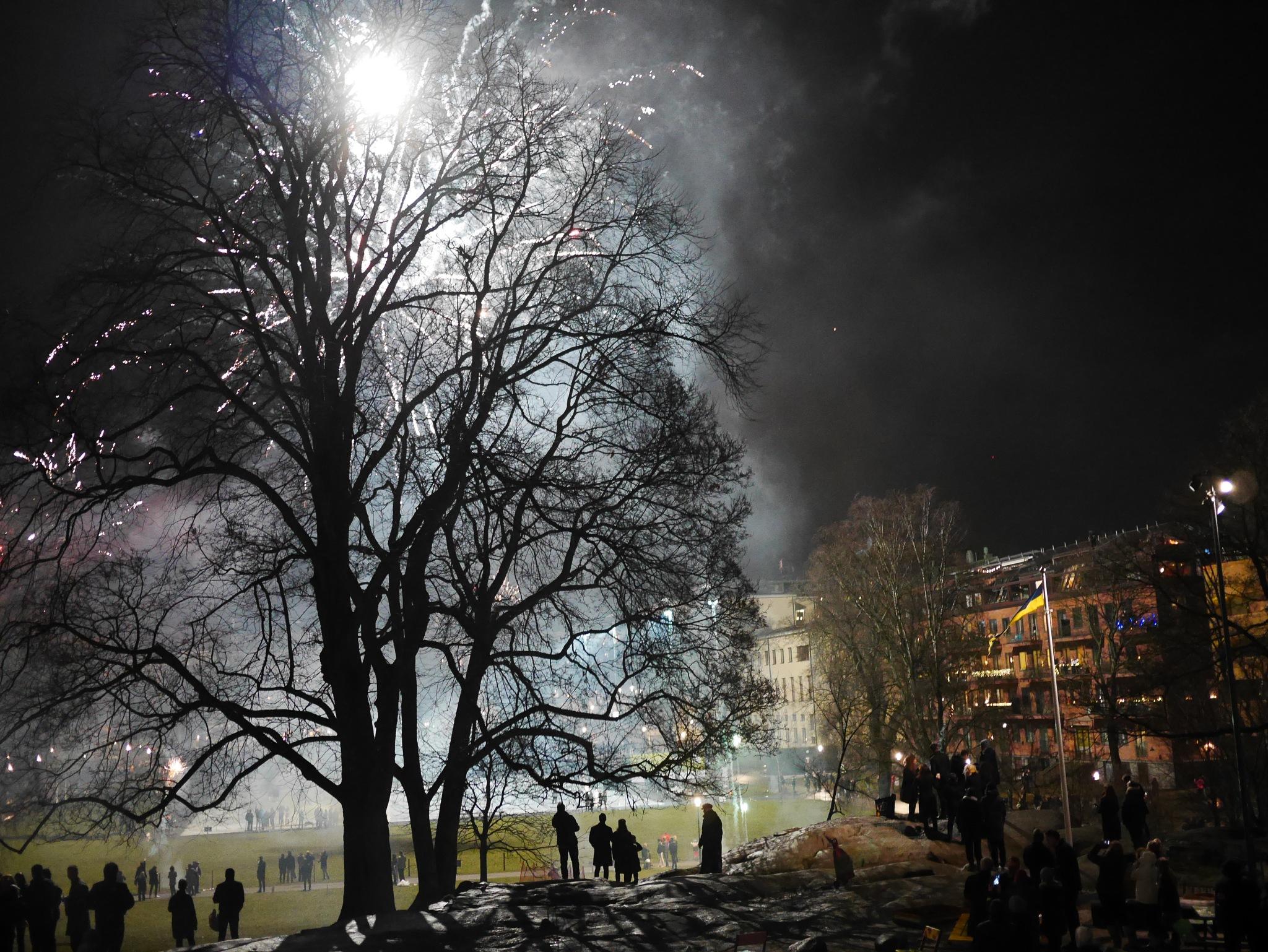 New Years celebration Stockholm city by pi olsson