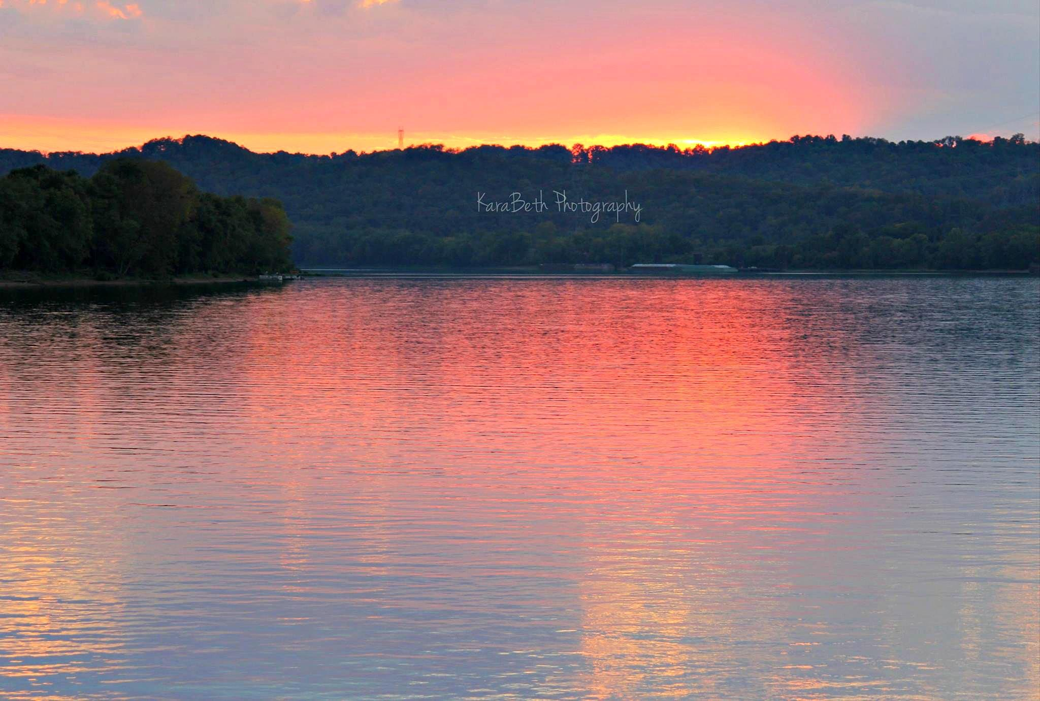 Photo in Random #sunset #ohio #river