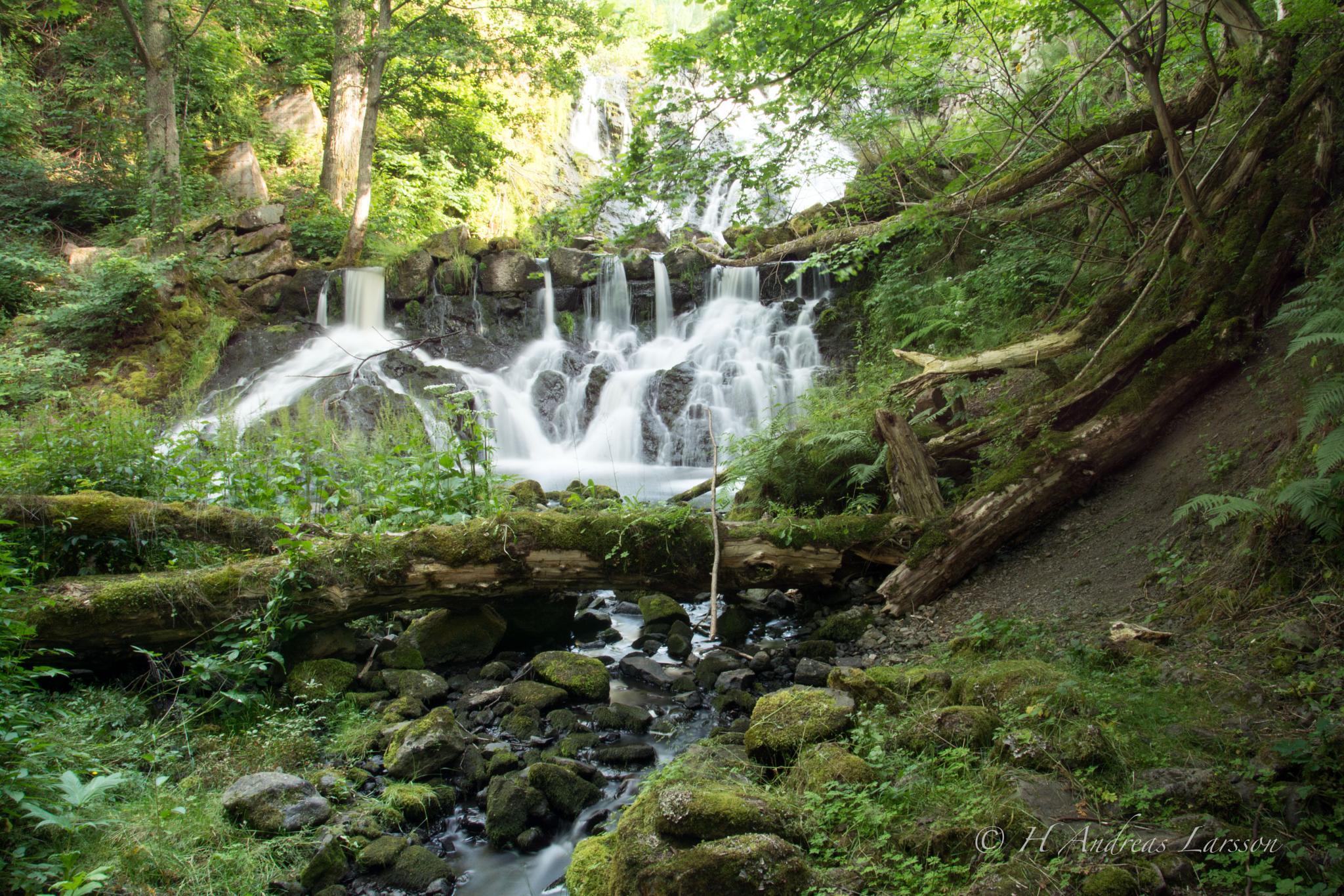 Röttle village waterfall 2 by Andreas Larsson