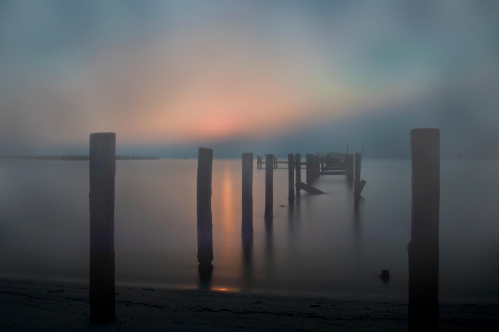 Sunrise Through Fog by Regina Williams