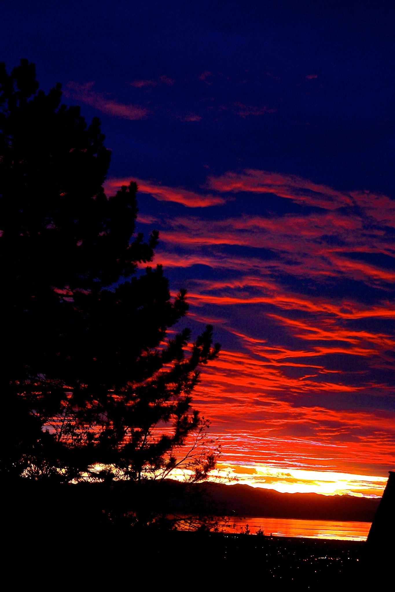 Red Sky in the night- by Steven Thomas Densley