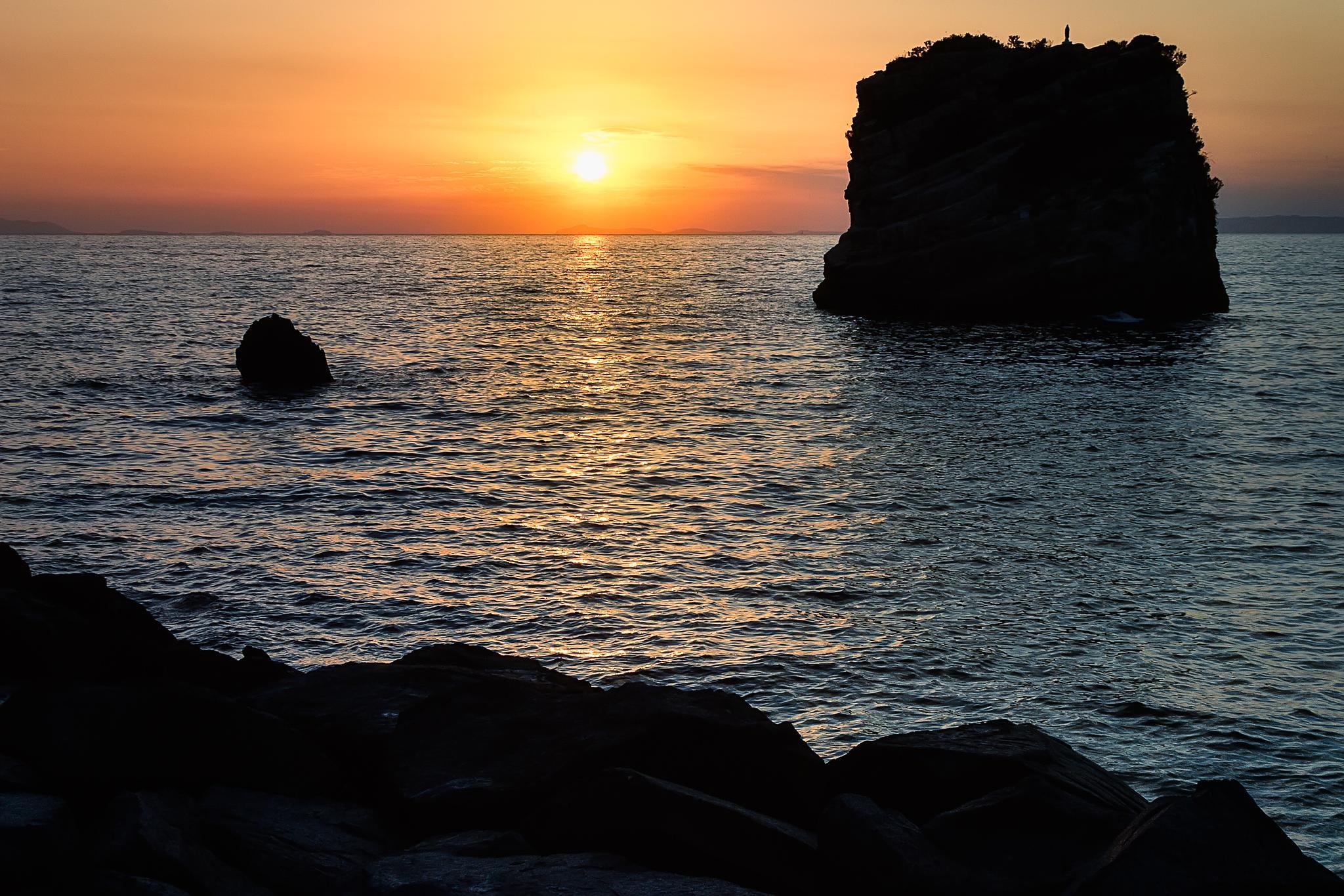 Sunset from Sorrento coast by Francesco Grasso Fotografia