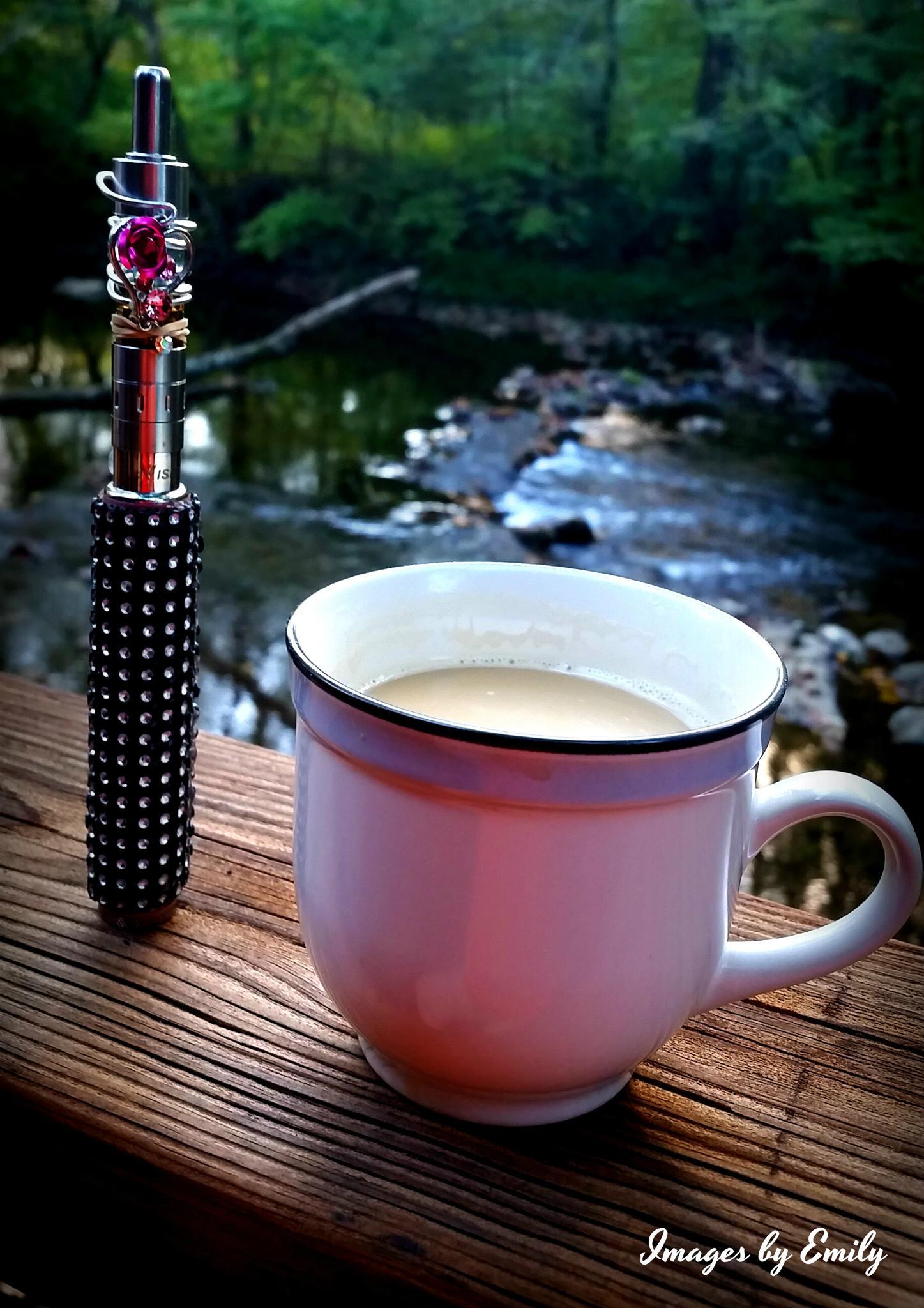 Photo in Random #coffee #vaping #river
