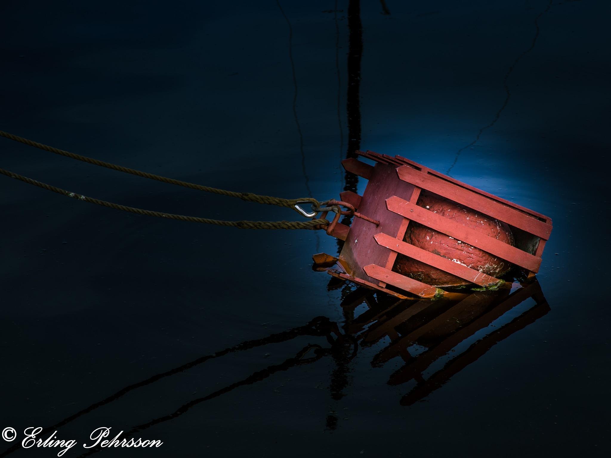 Reflection in Gislöv harbor by erling.pehrsson