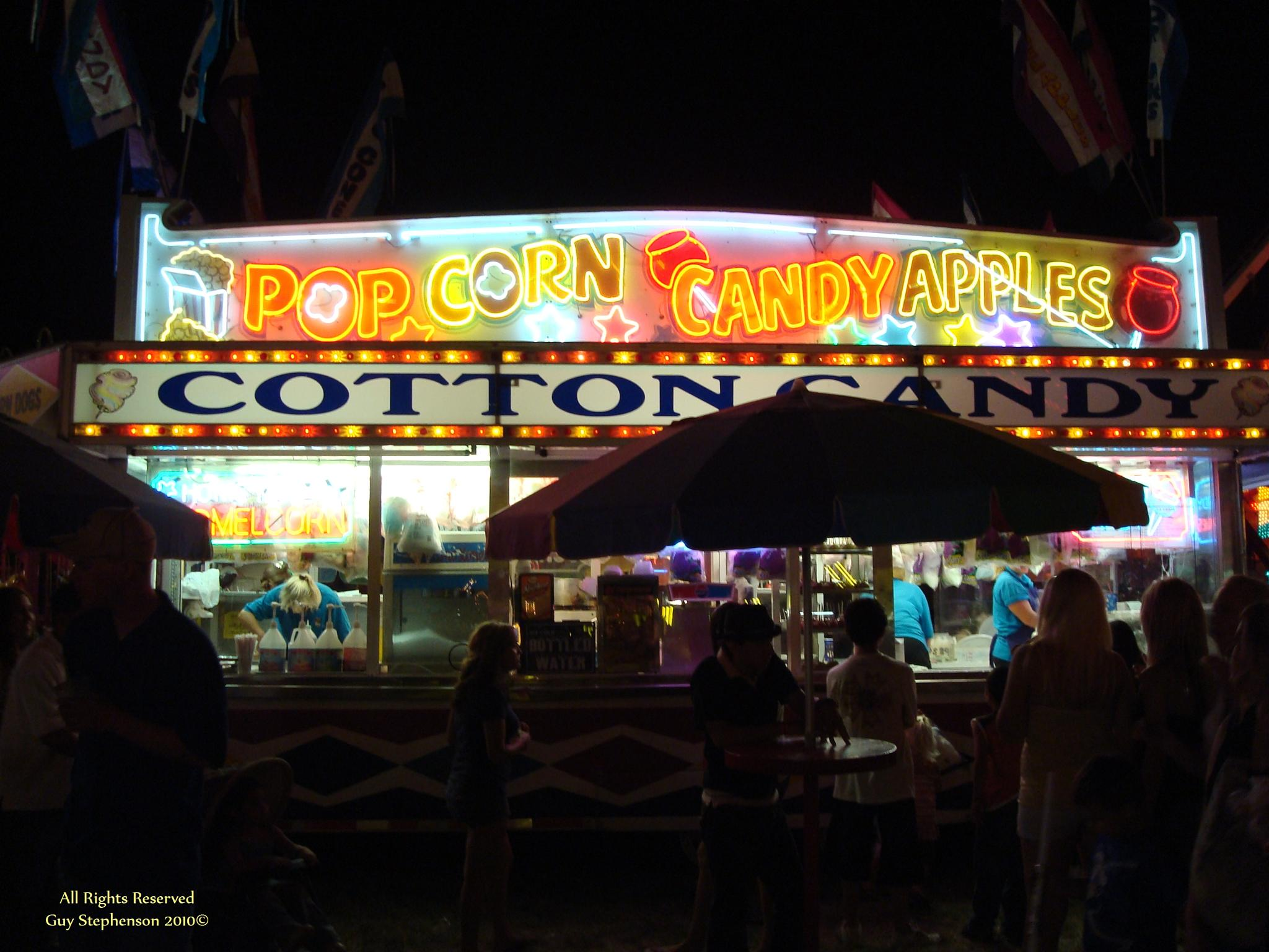 Night at the Fair - Popcorn and Candy Apples! by Guy Stephenson