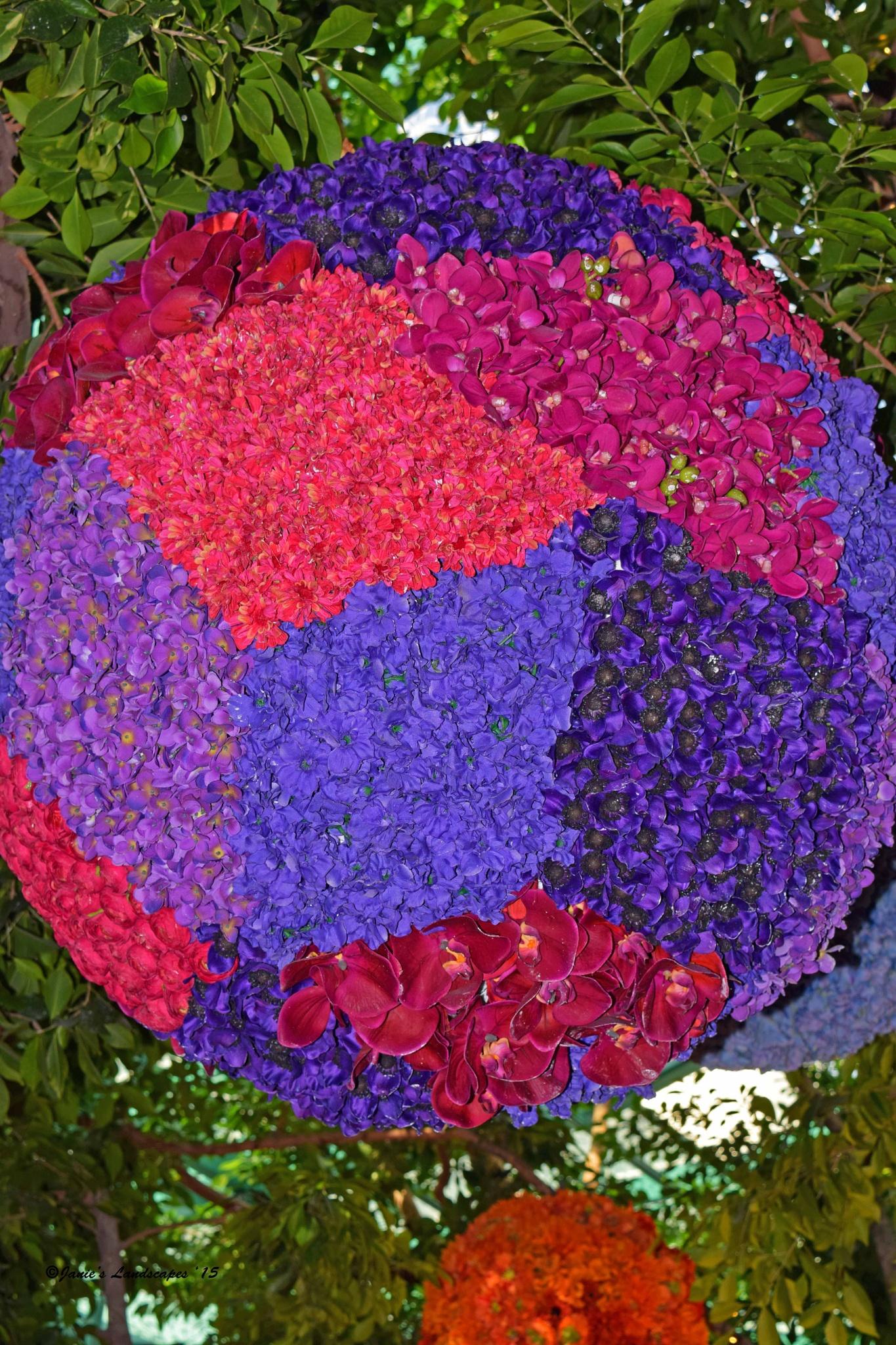Ball of Flowers at Wynn Las Vegas by JanetSNeil