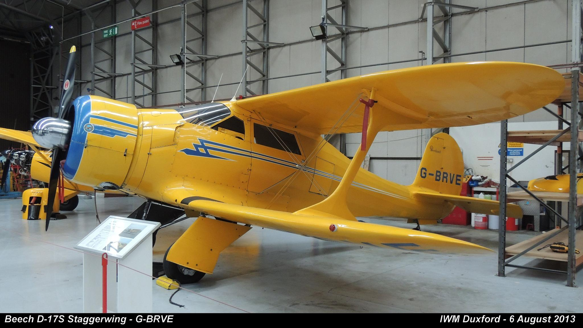 Beech D-17S Staggerwing - G-BRVE by Graham Wood Photo Collection