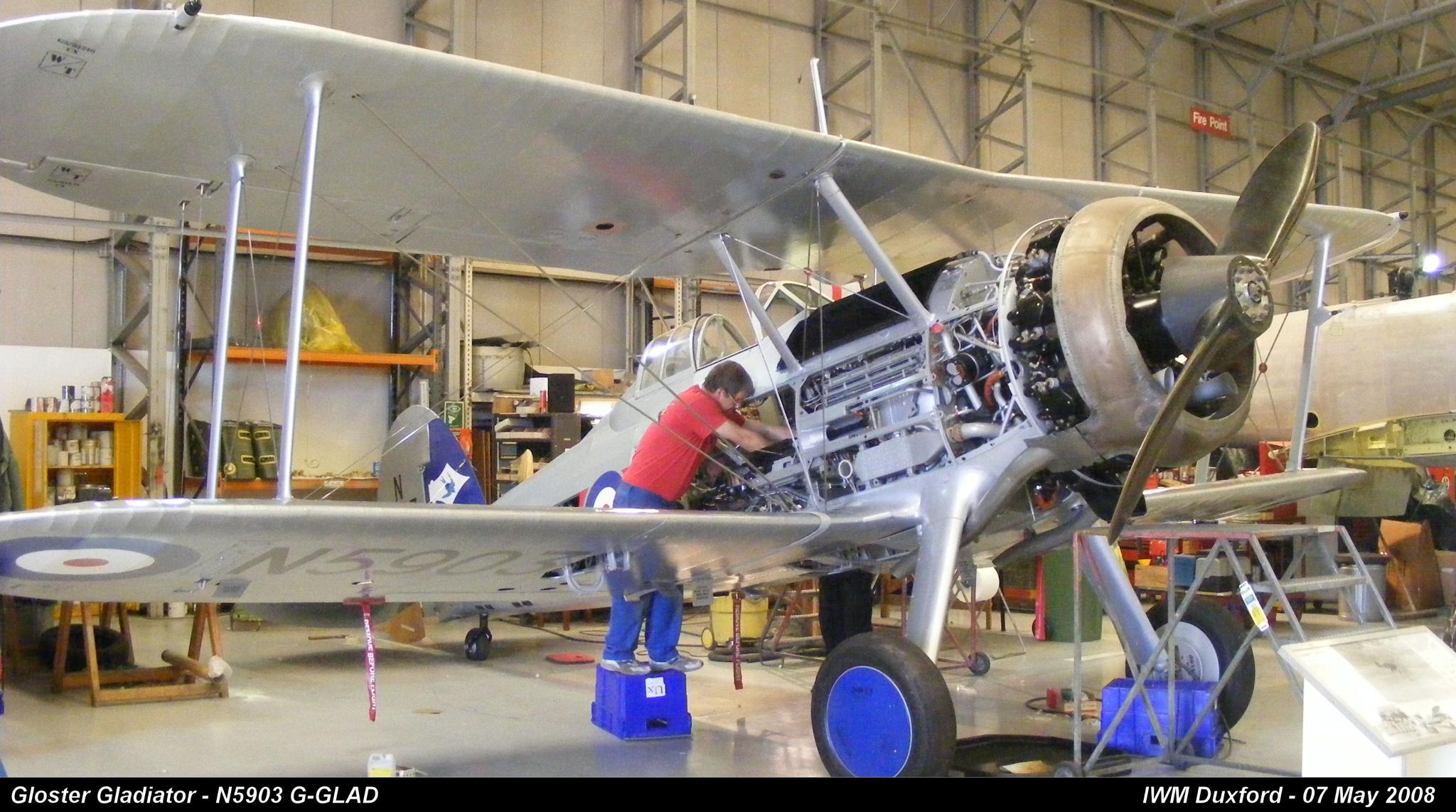 Gloster Gladiator - N5903 G-GLAD by Graham Wood Photo Collection