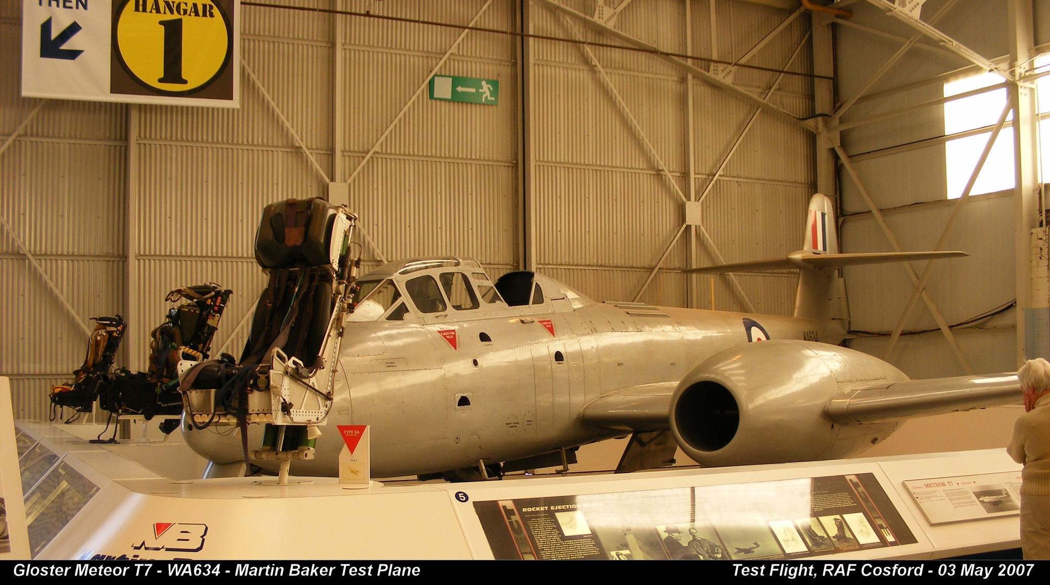 Gloster Meteor T7 - WA634 - Martin Baker Test Plane  by Graham Wood Photo Collection