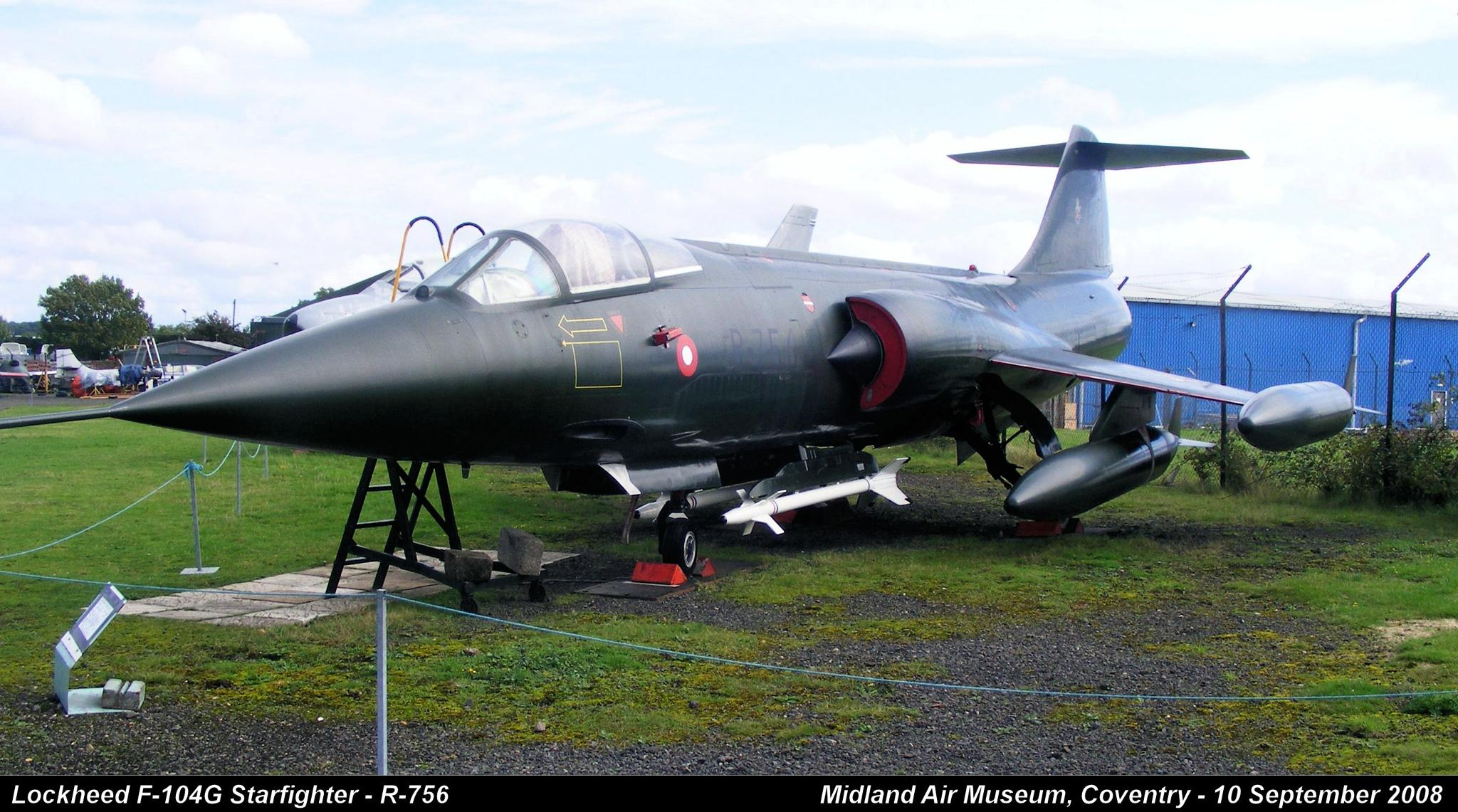Lockheed F-104G Starfighter - R-756 by Graham Wood Photo Collection