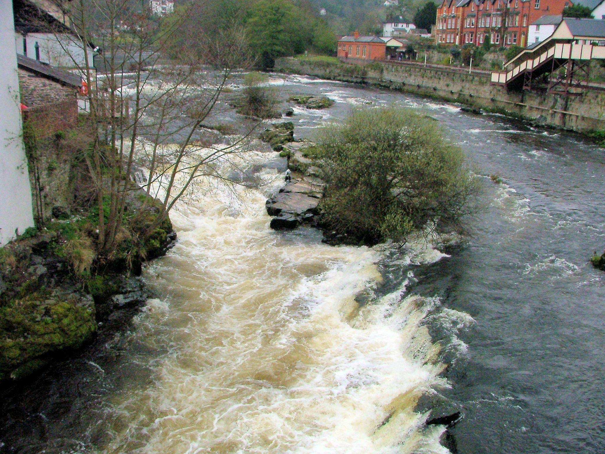 River Dee at Llangollen Denbighshire by Graham Wood Photo Collection