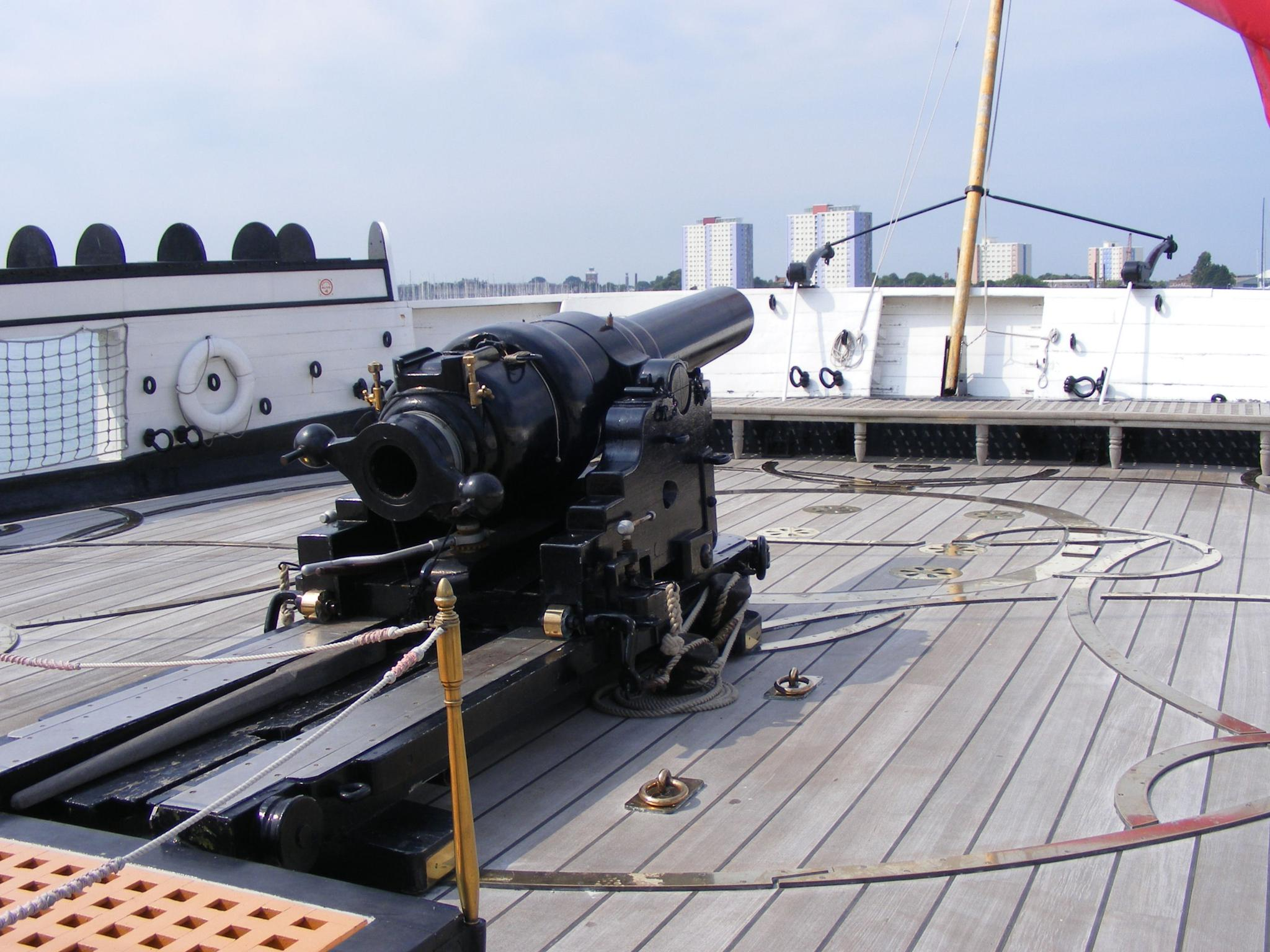 HMS Warrior Gun Portsmouth by Graham Wood Photo Collection