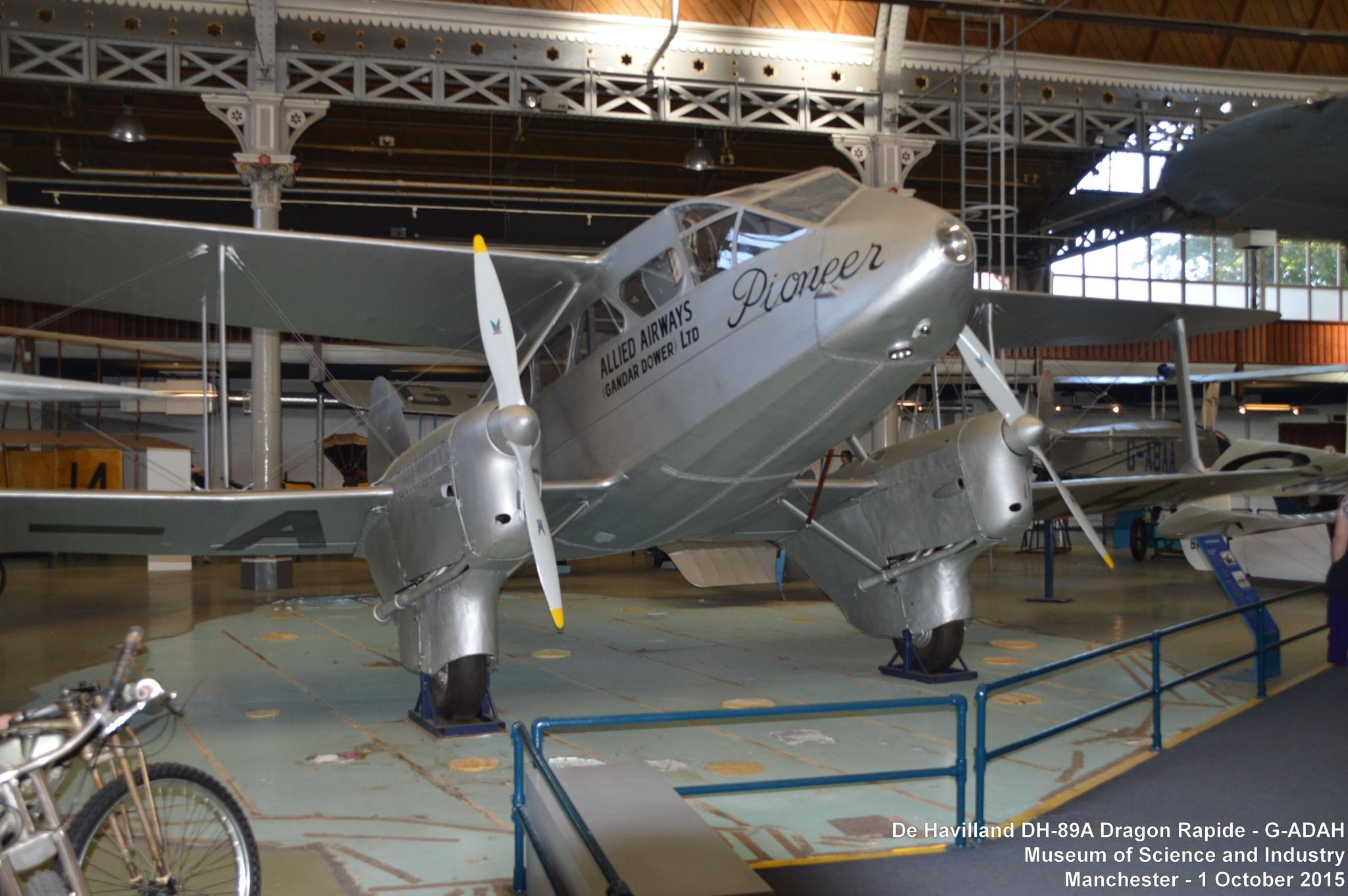 De Havilland DH-89A Dragon Rapide - G-ADAH by Graham Wood Photo Collection
