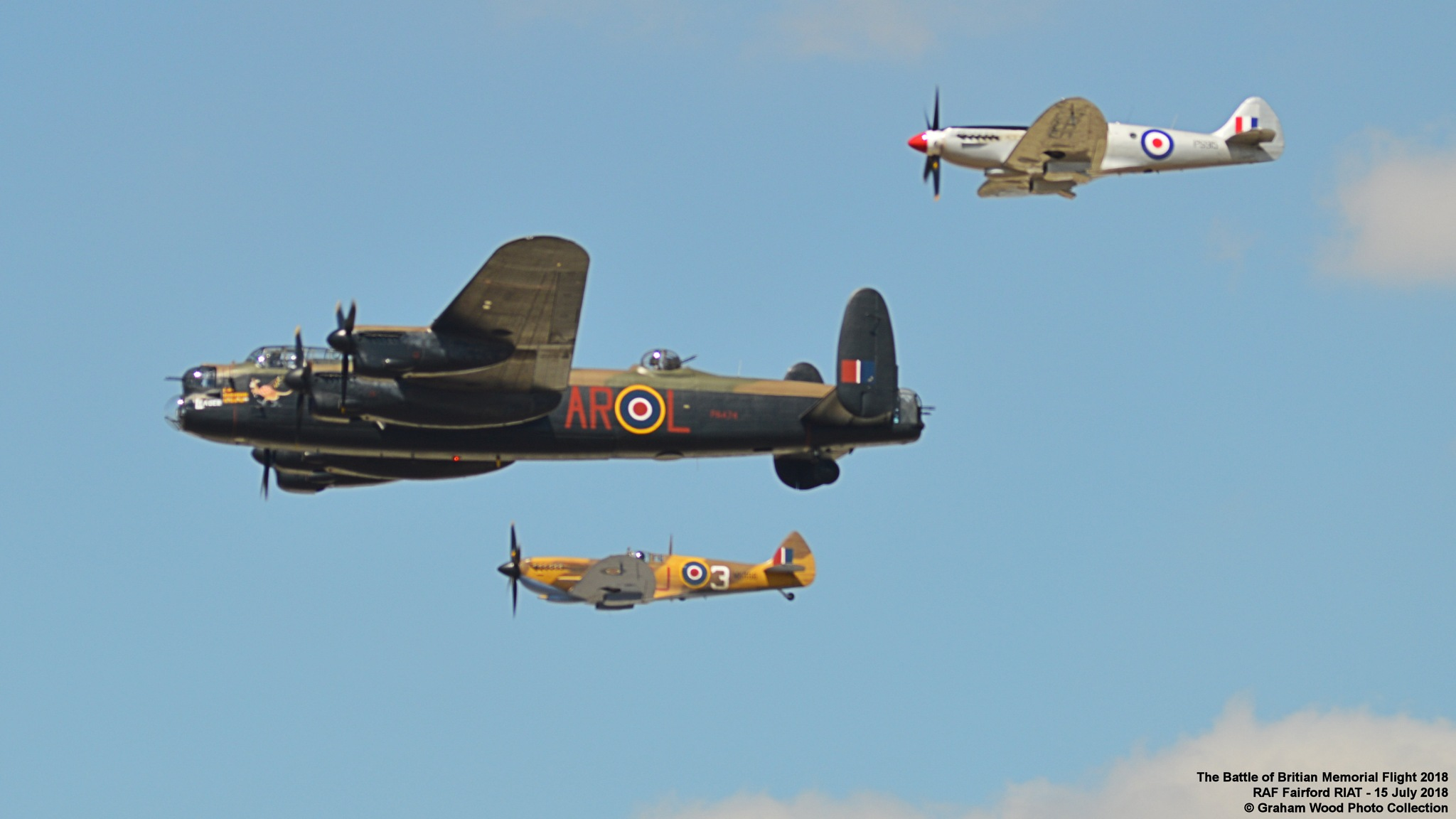 The Battle of Britian Memorial Flight 2018 by Graham Wood Photo Collection