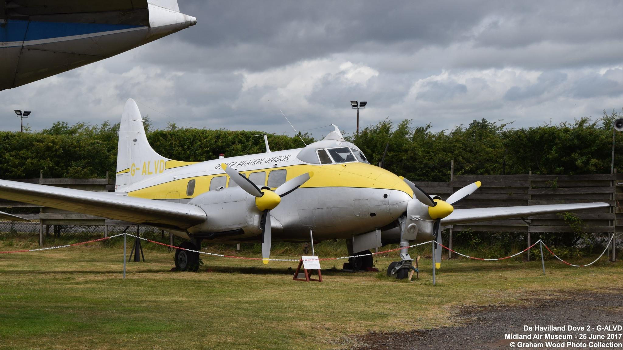 De Havilland Dove 2 - G-ALVD by Graham Wood Photo Collection