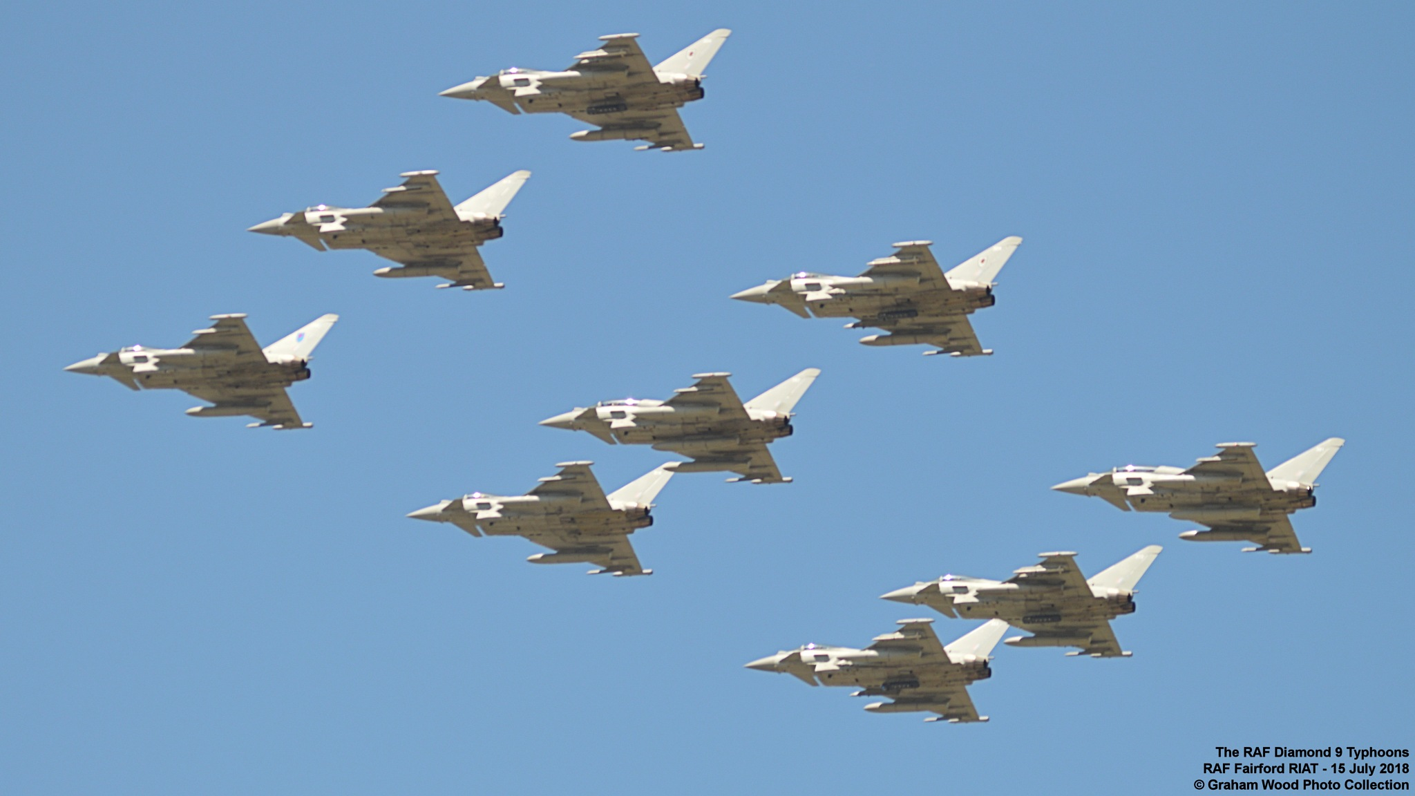 The RAF Diamond 9 Typhoons  by Graham Wood Photo Collection