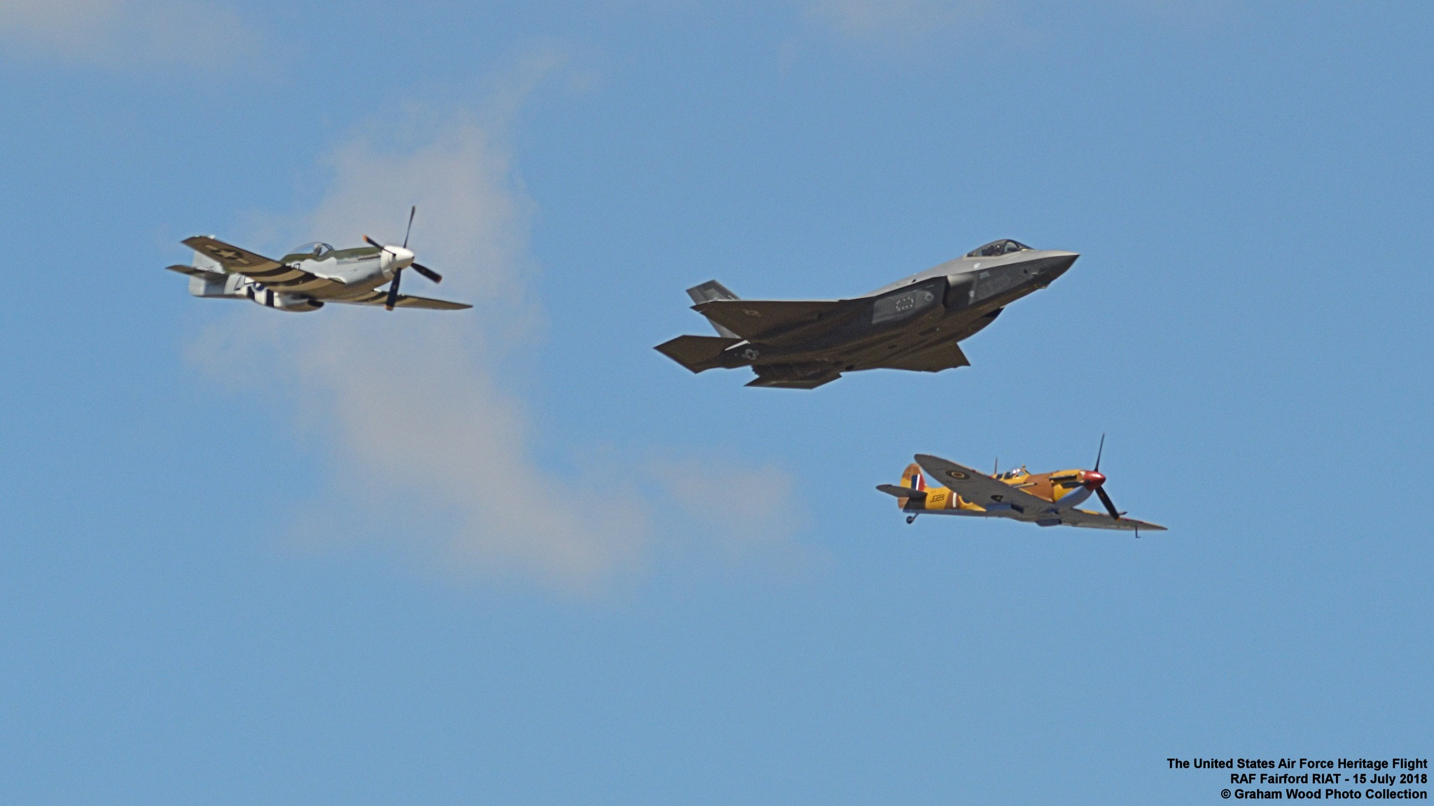 The United States Air Force Heritage Flight 2018 by Graham Wood Photo Collection