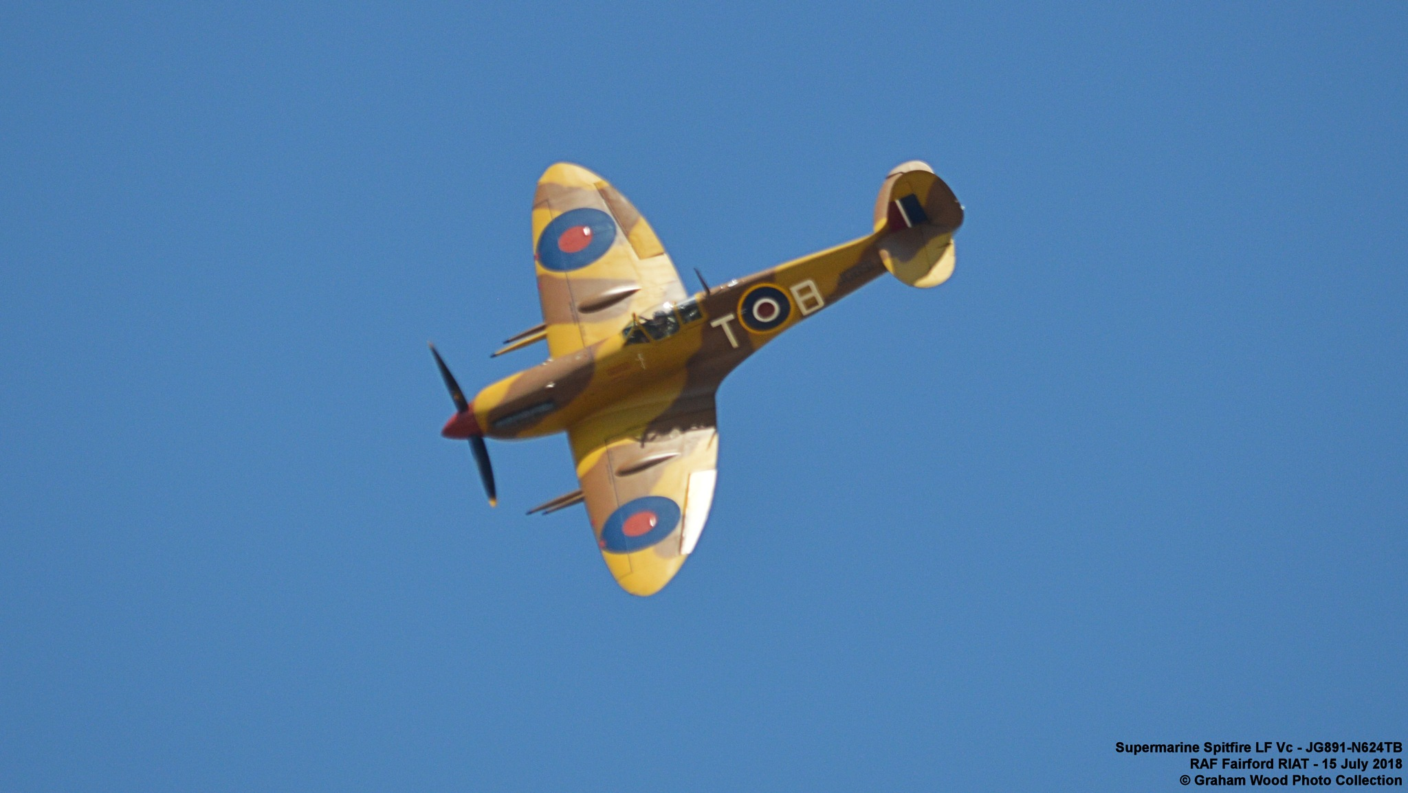 Supermarine Spitfire LF Vc - JG891-N624TB  by Graham Wood Photo Collection