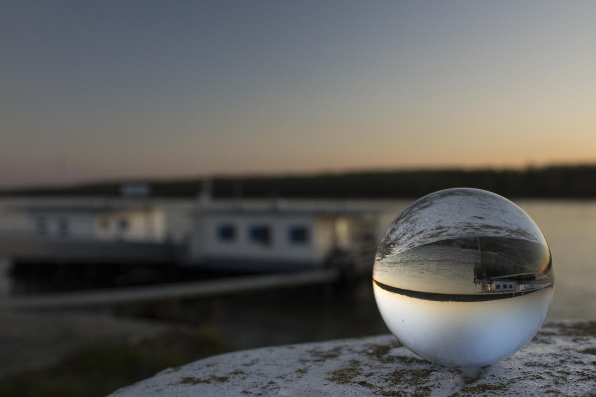 glass sphere by Banhidai Beata