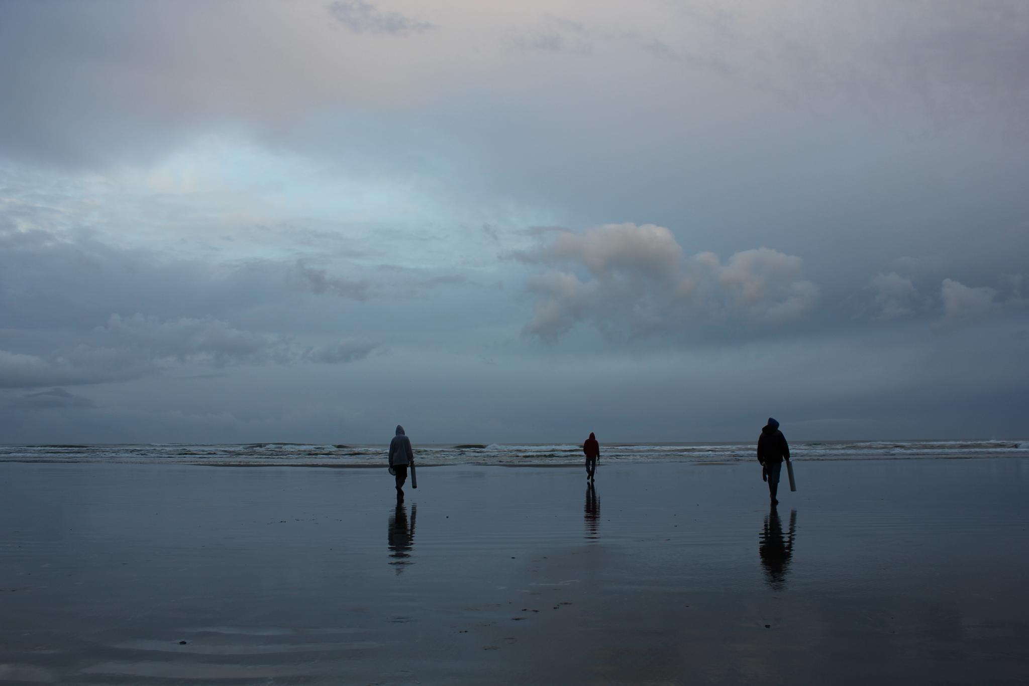 Photo in Random #long beach #clam tides #sunrise #morning dig